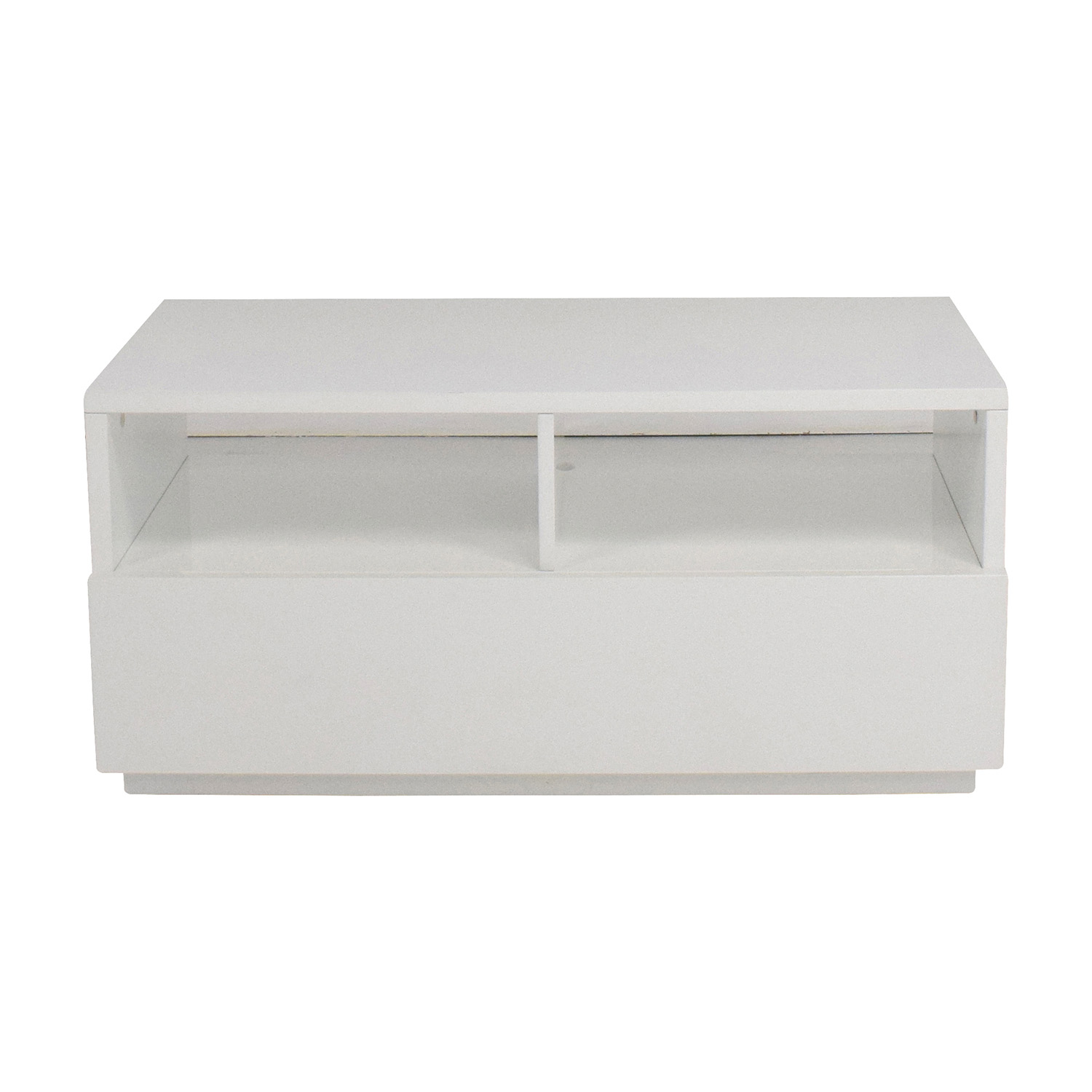 Shop CB2 Chill White Mini Media Console CB2 Media Units ...