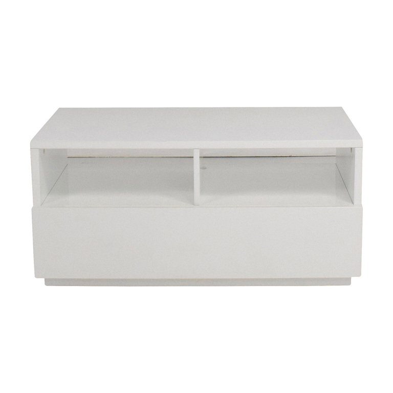 CB2 CB2 Chill White Mini Media Console nj