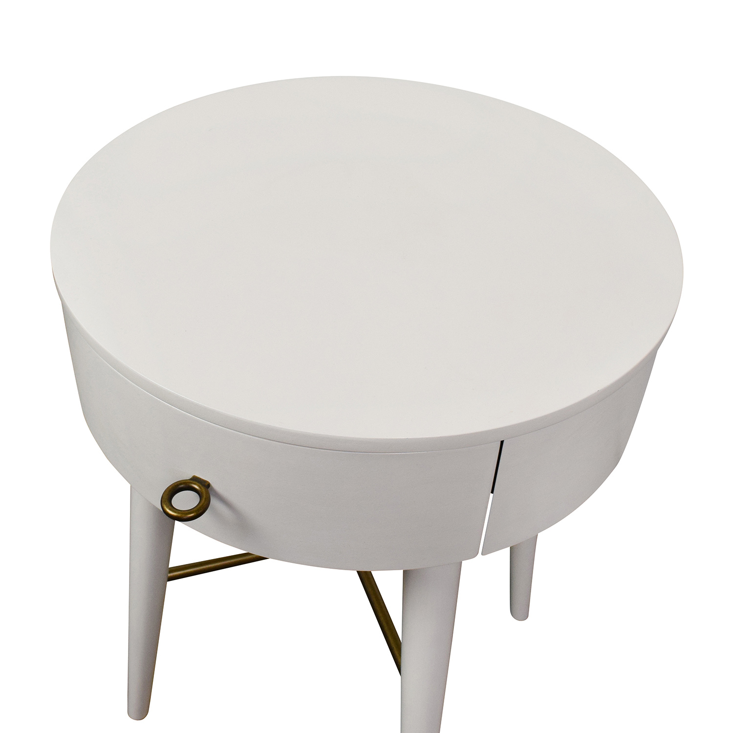 ... West Elm West Elm Penelope White Round Nightstand Tables ...