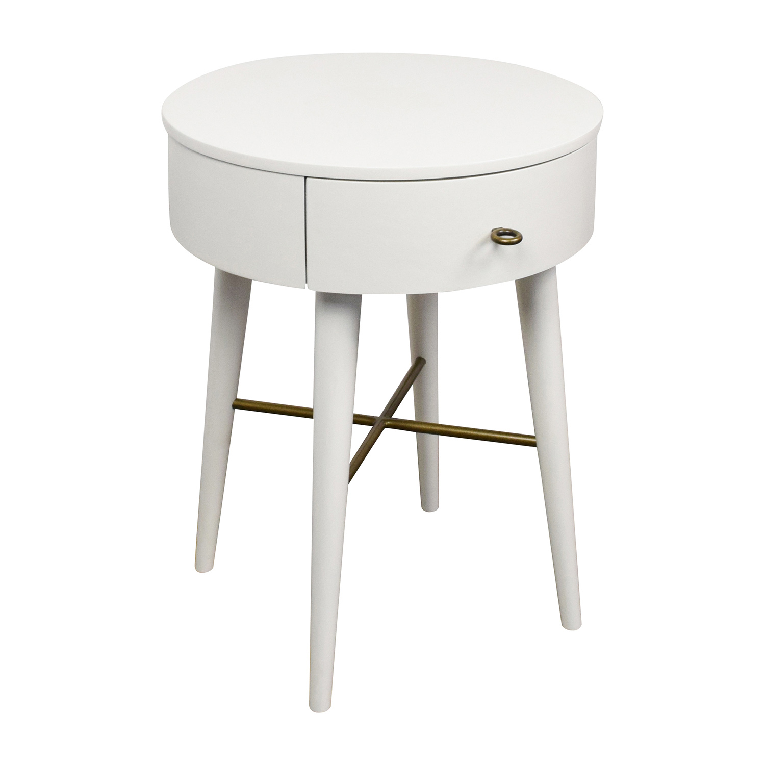 West Elm Penelope White Round Nightstand Dimensions