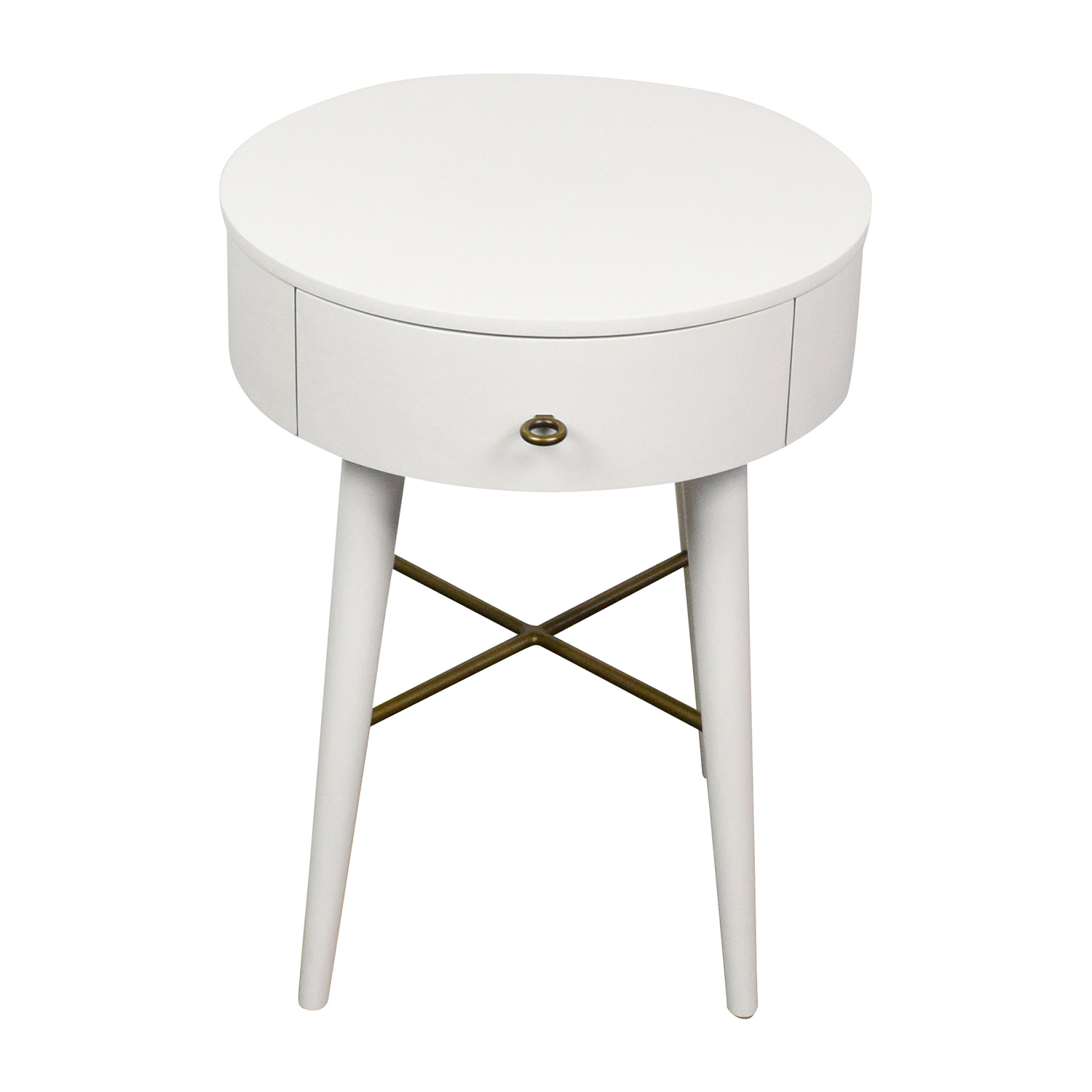 West Elm West Elm Penelope White Round Nightstand price