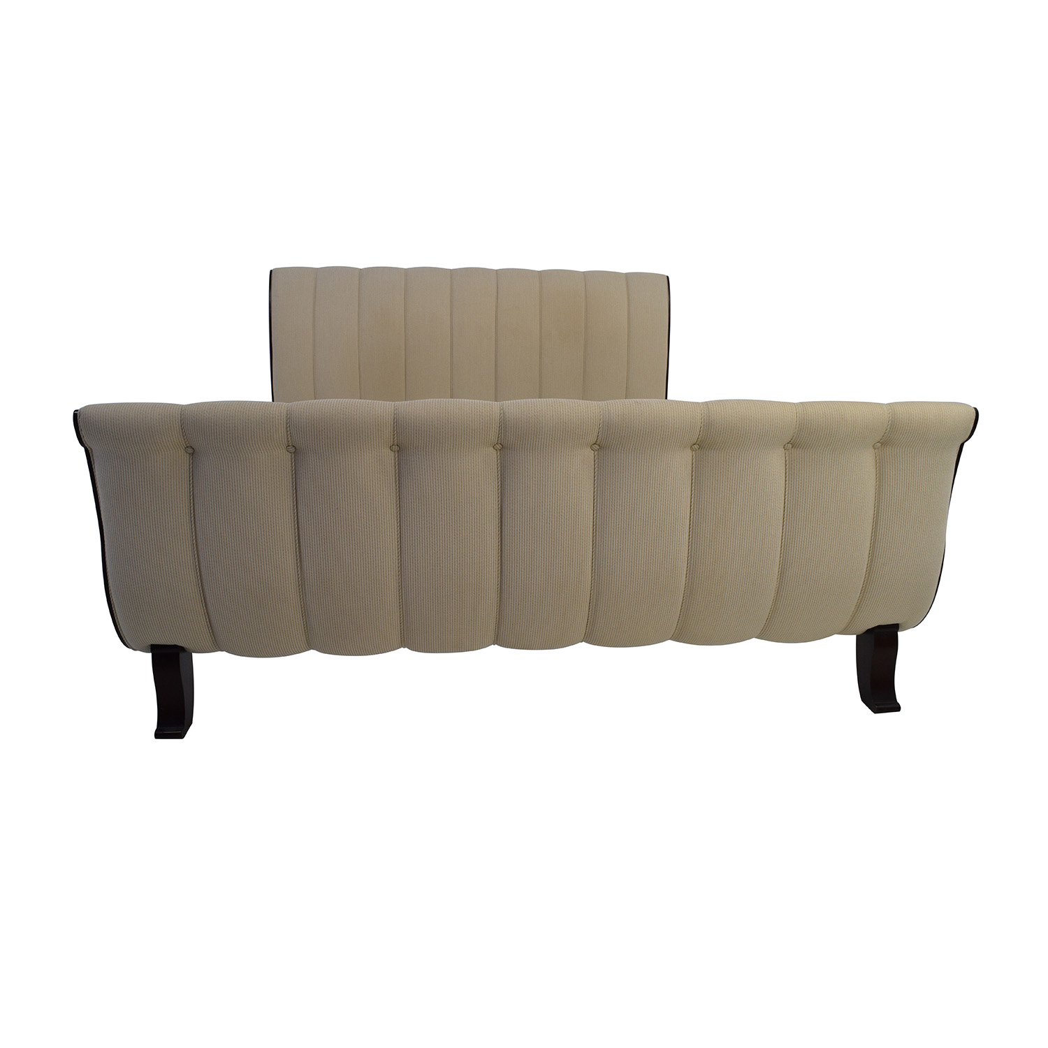 Lillian August Lillian August Upholstered King Sleigh Bed Frame White
