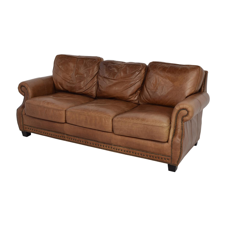 81% OFF - Safavieh Safavieh Couture Brayton Leather Sofa / Sofas