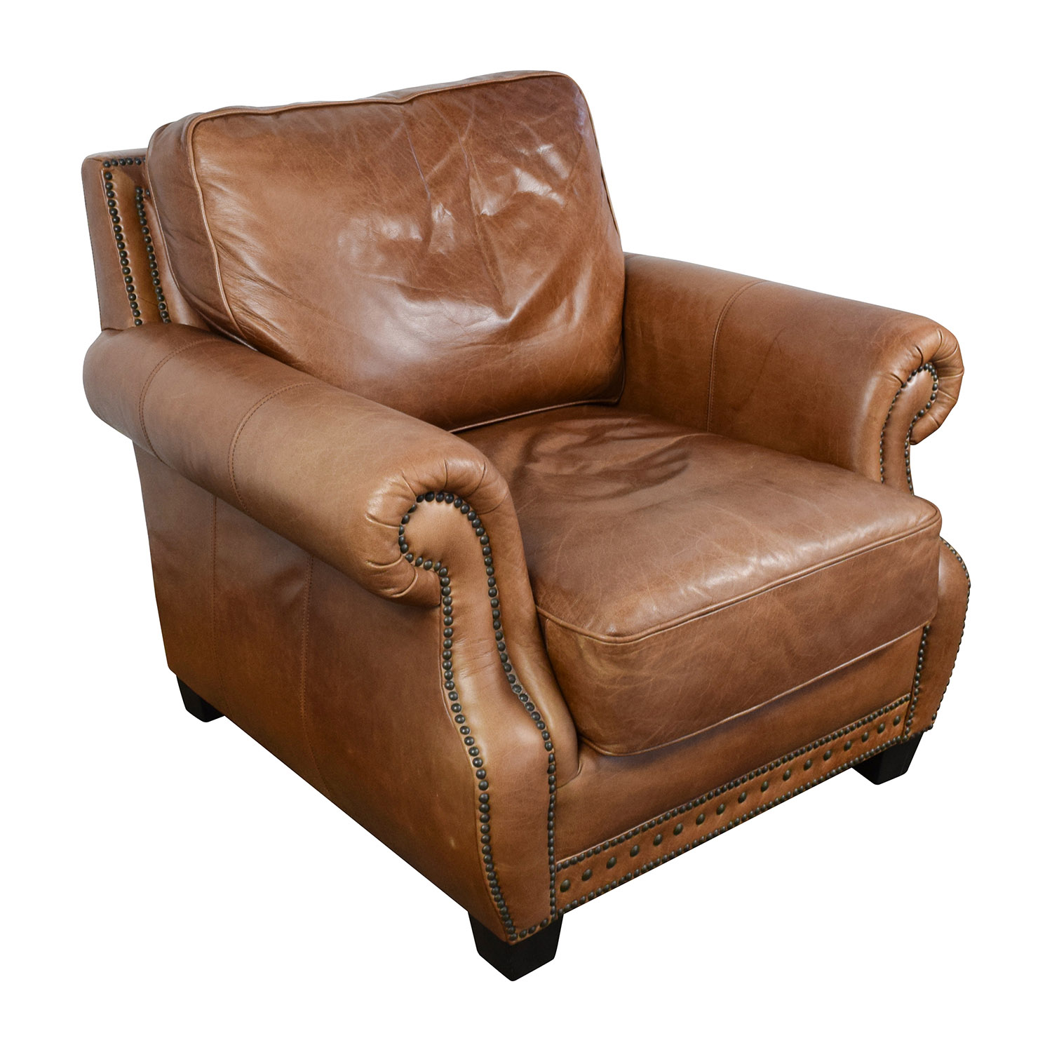 85% OFF Safavieh Couture Safavieh Couture Brayton Leather Chair
