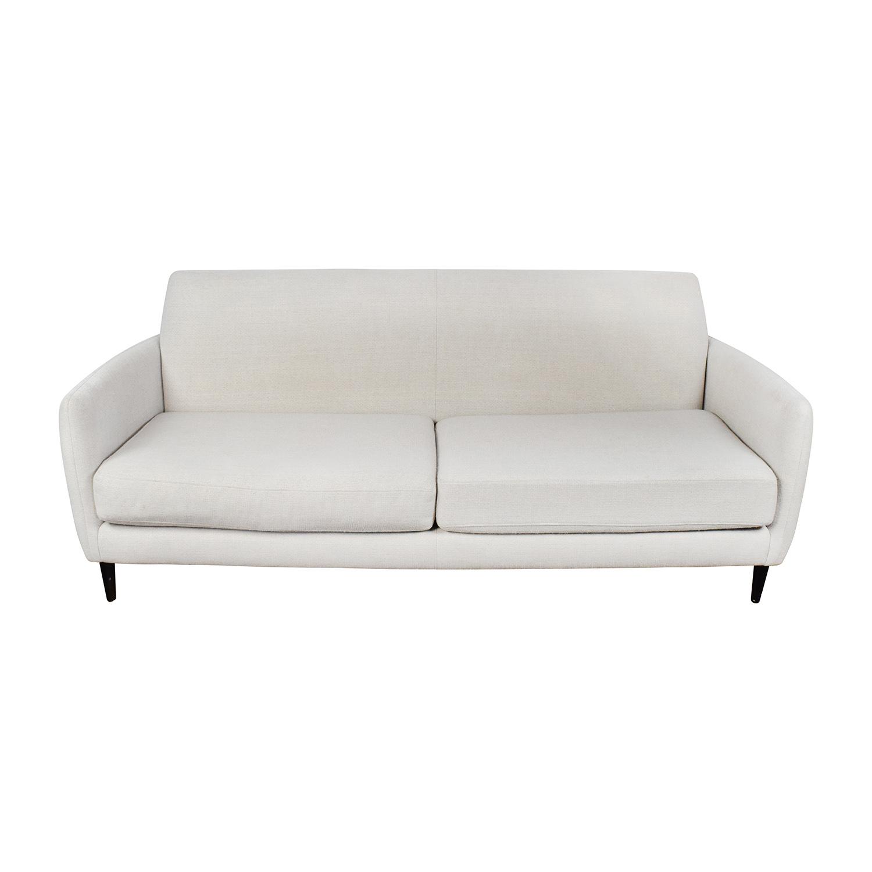 CB2 Beige Danish Parlour Sofa / Sofas