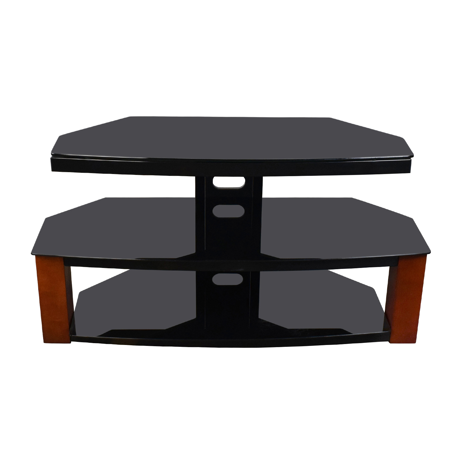 Black & Brown TV Stand Storage