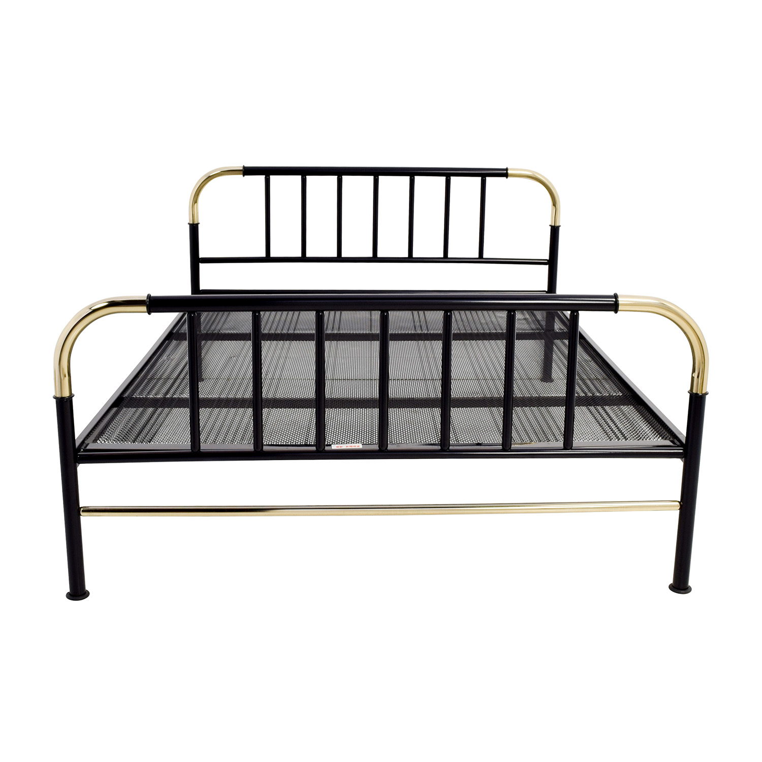 Black with Gold Trim Full Metal Bed nj
