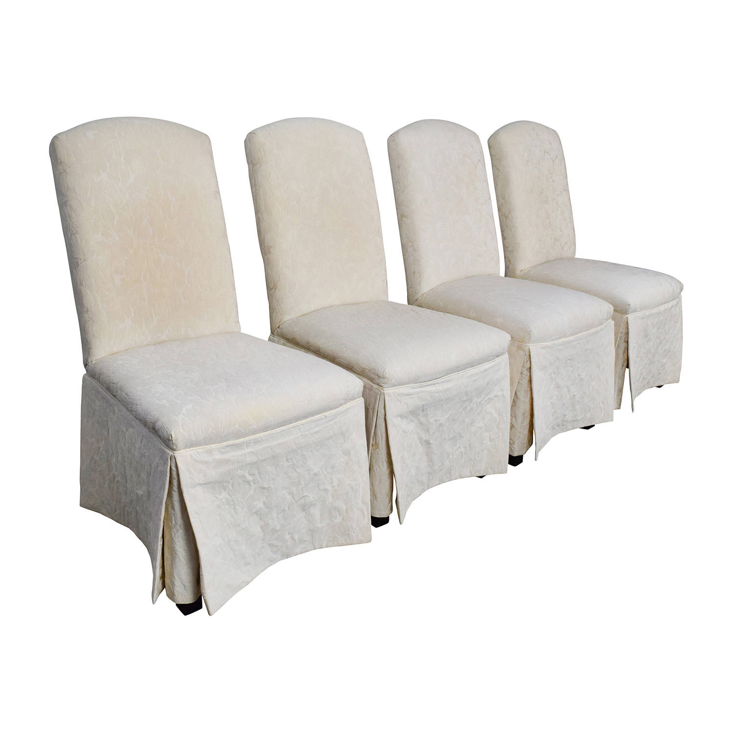 90 off thomasville thomasville ivory upholstered dining for Upholstered dining chairs