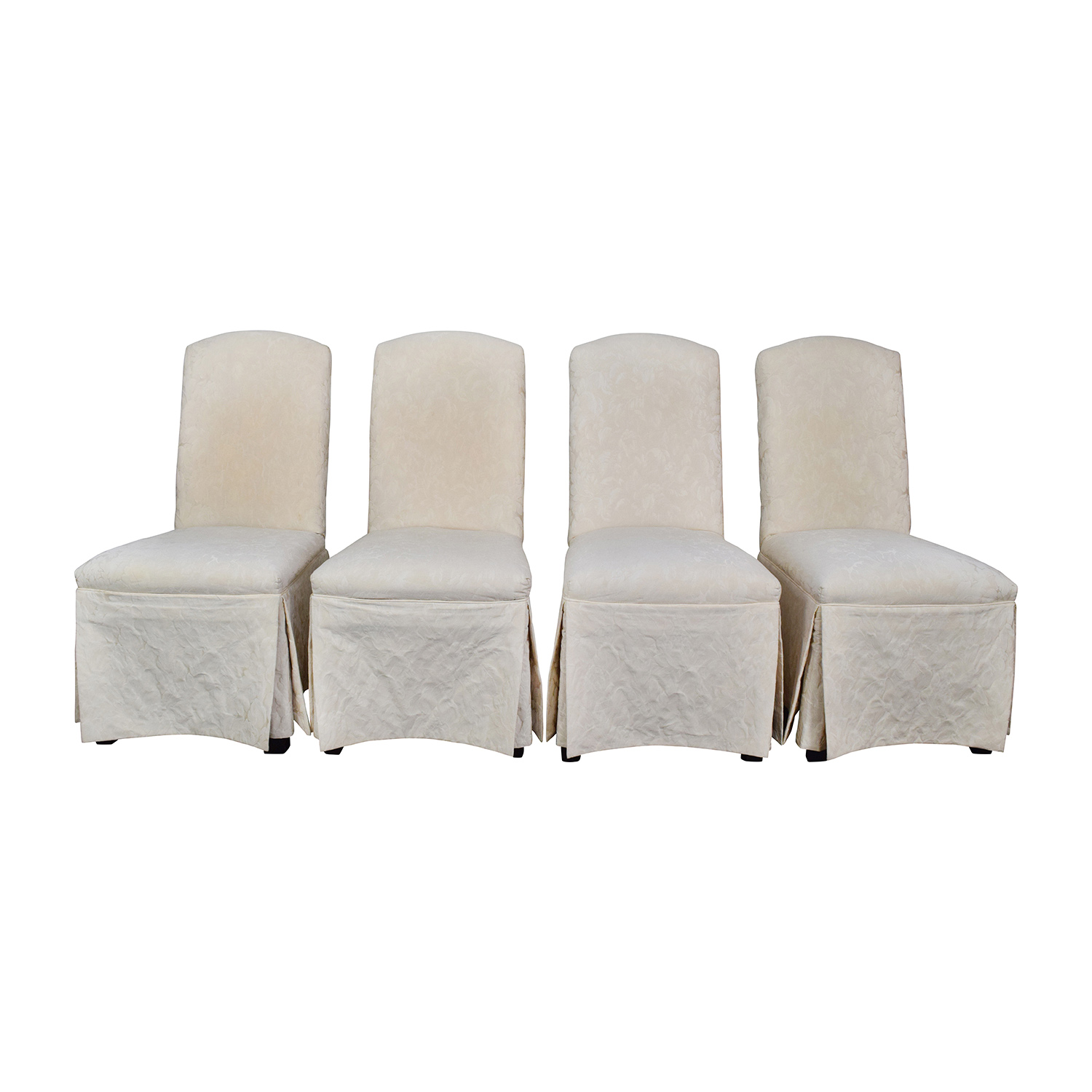 Thomasville Thomasville Ivory Upholstered Dining Chairs nj