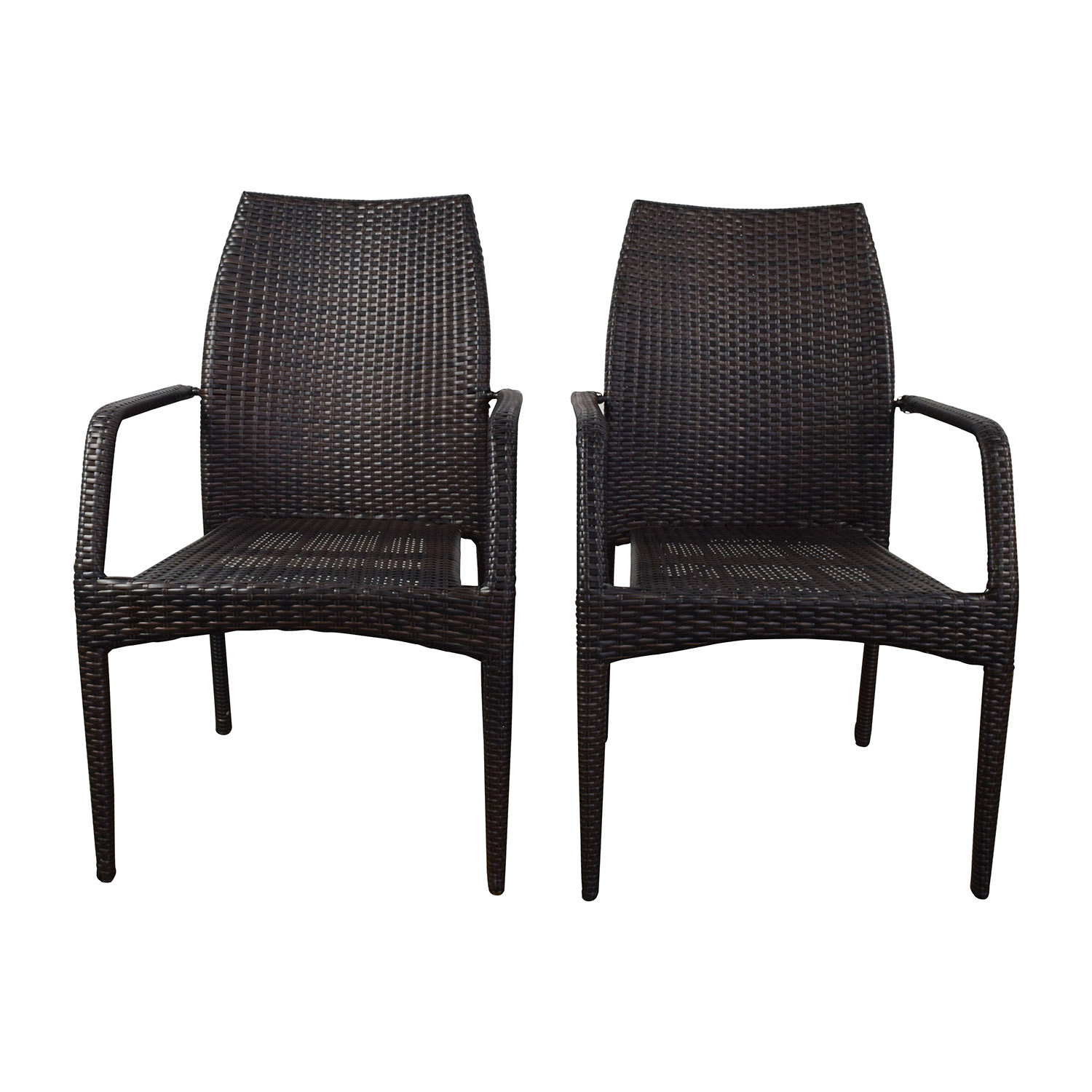 Dark Brown Wicker Outdoor Dining Chairs coupon