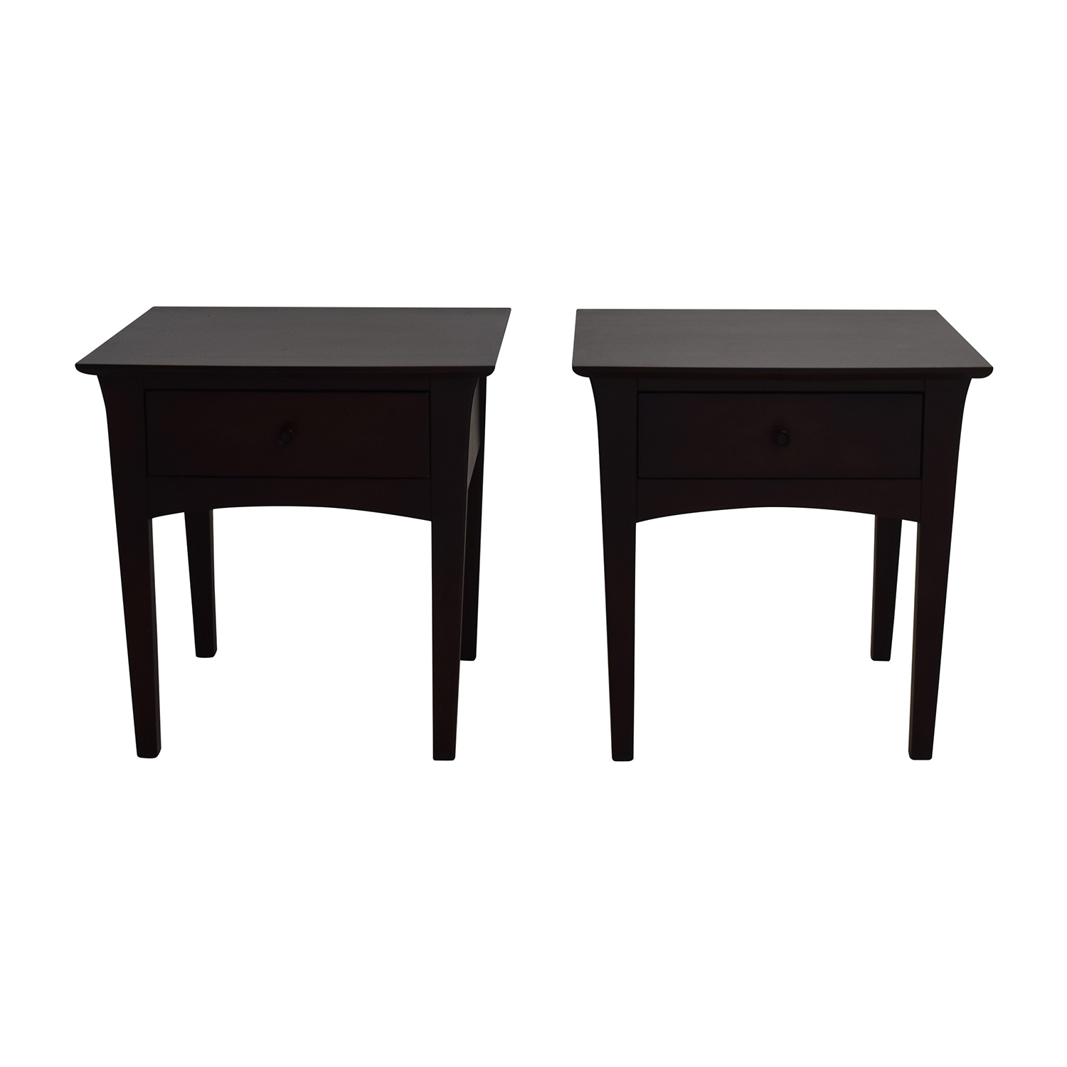 OFF Crate and Barrel Crate & Barrel Baronet Nightstands Tables