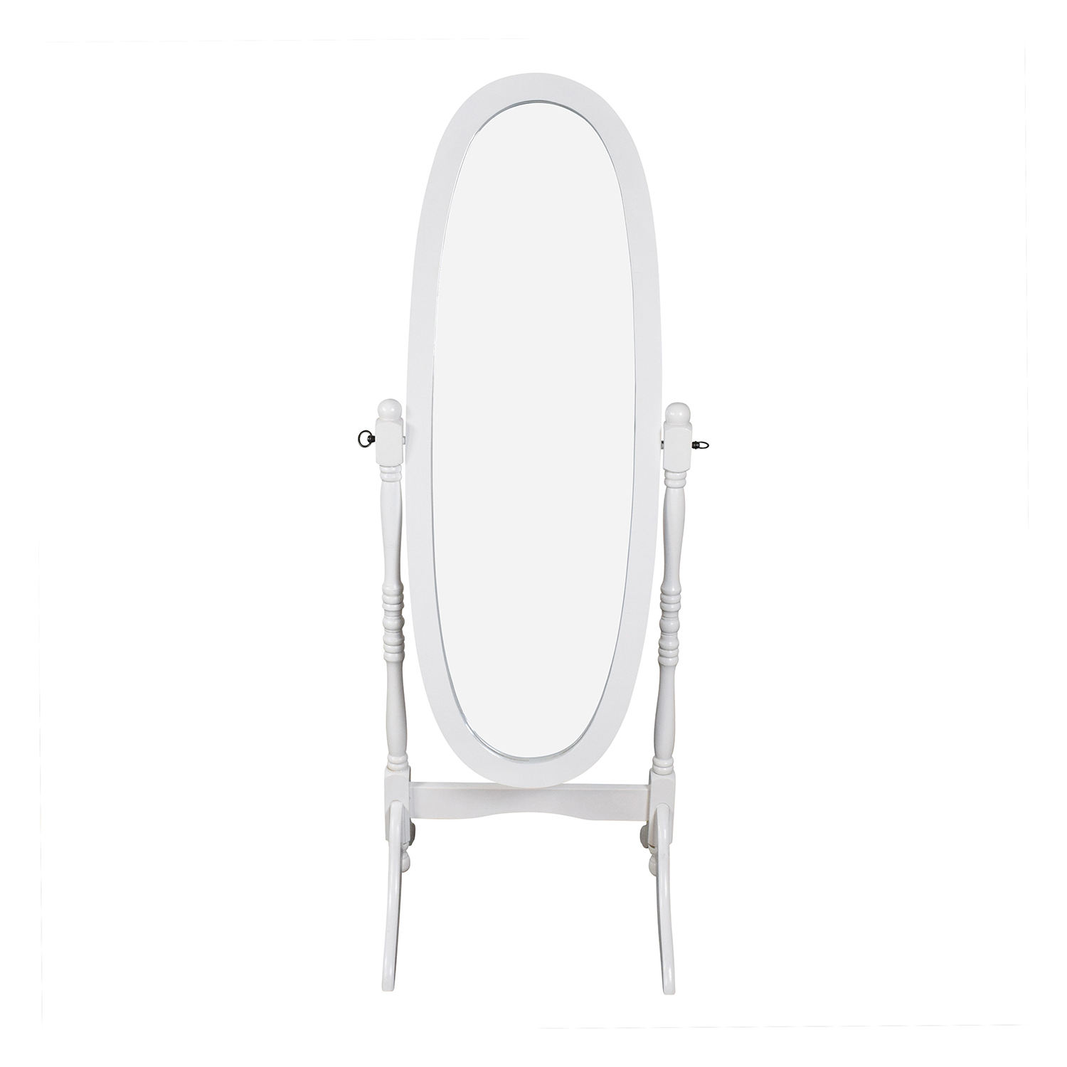 Crown Mark Crown Mark Oval White Cheval Mirror nyc