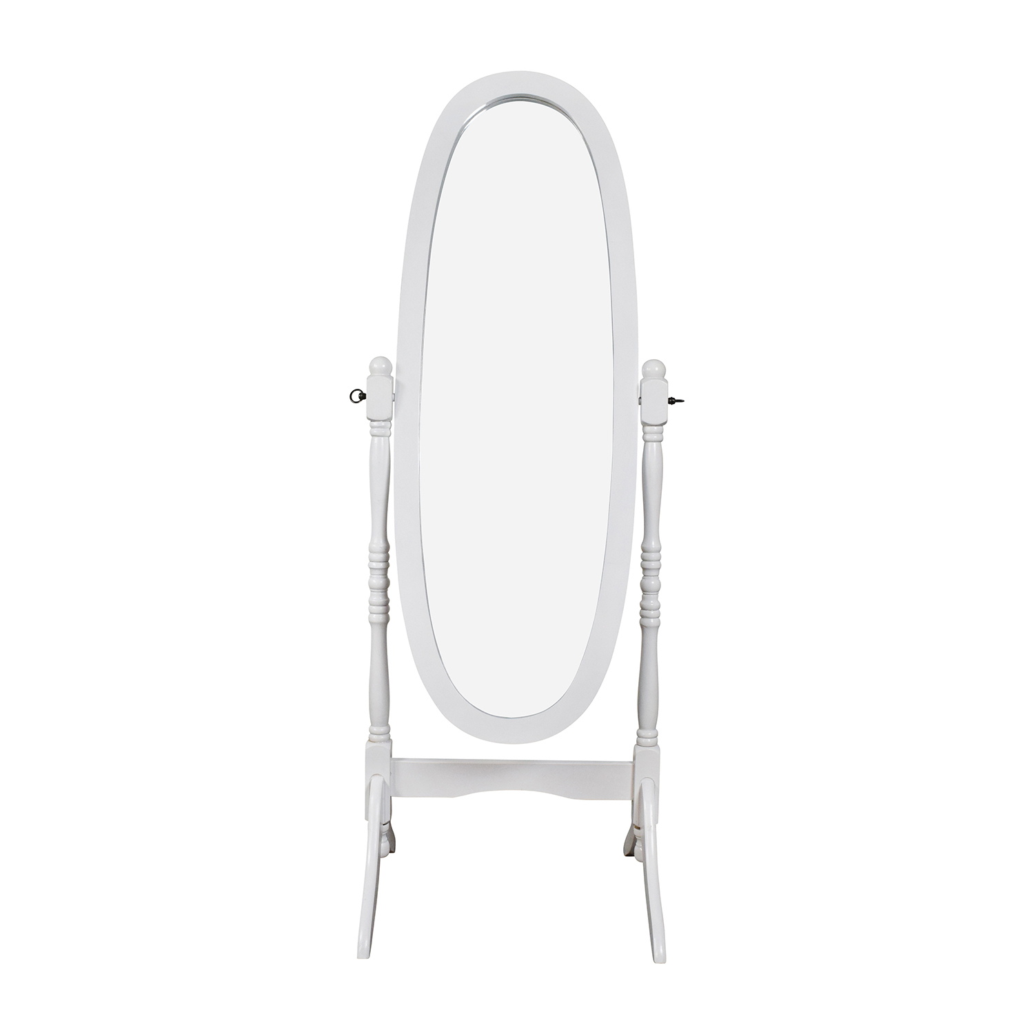 shop Crown Mark Oval White Cheval Mirror Crown Mark
