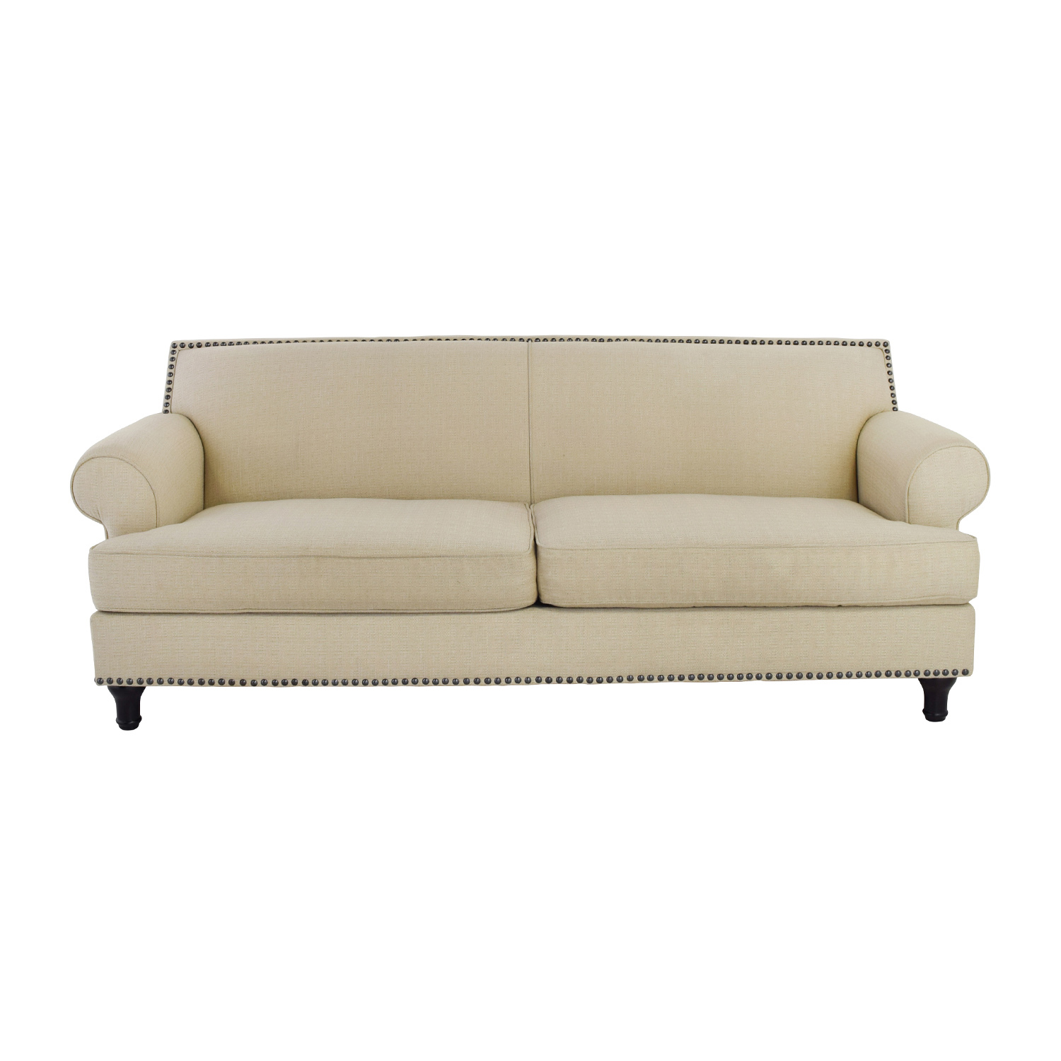 Pier 1 Pier 1 Carmen Tan Couch with Studs Classic Sofas