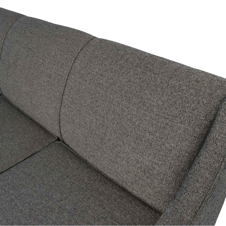 Mitchell Gold + Bob Williams Cara Grey Sofa / Sofas