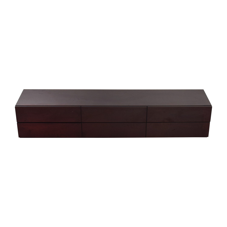 Italian Wood Six-Drawer Dresser Dressers