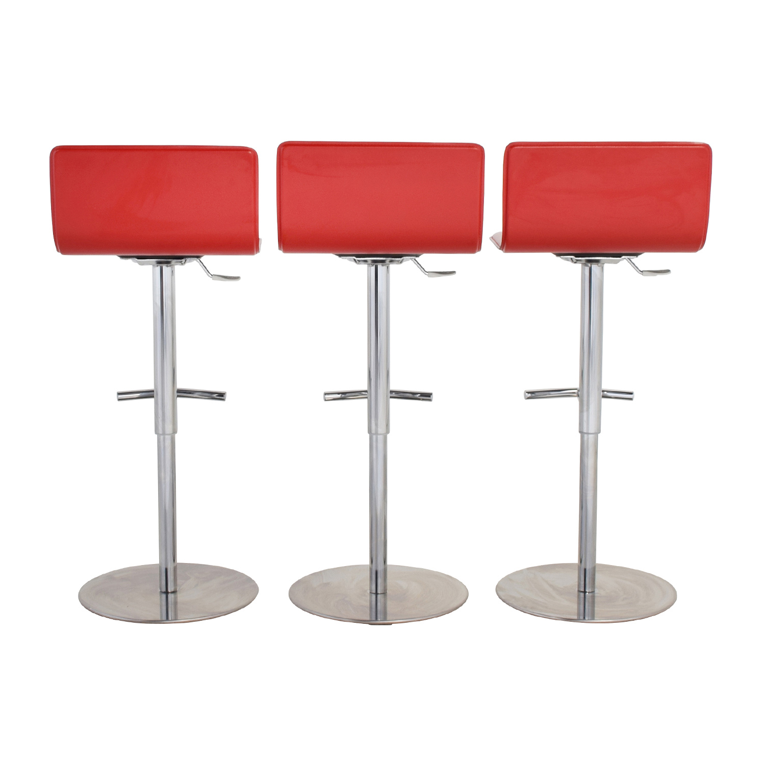 shop Trabaldo Italian Red Leather Adjustable Bar Stools Trabaldo Chairs