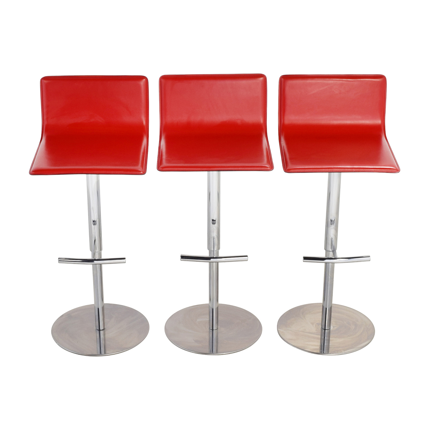... shop Trabaldo Italian Red Leather Adjustable Bar Stools Trabaldo ...  sc 1 st  Furnishare & 90% OFF - Trabaldo Trabaldo Italian Red Leather Adjustable Bar ... islam-shia.org
