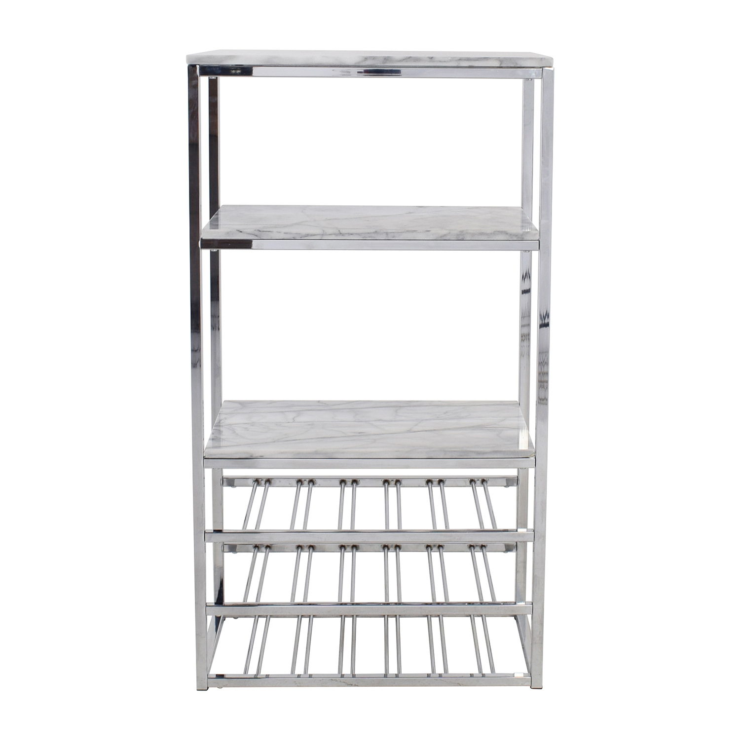 buy Crate and Barrel Crate & Barrel Marble and Silver Chrome Wine Rack online