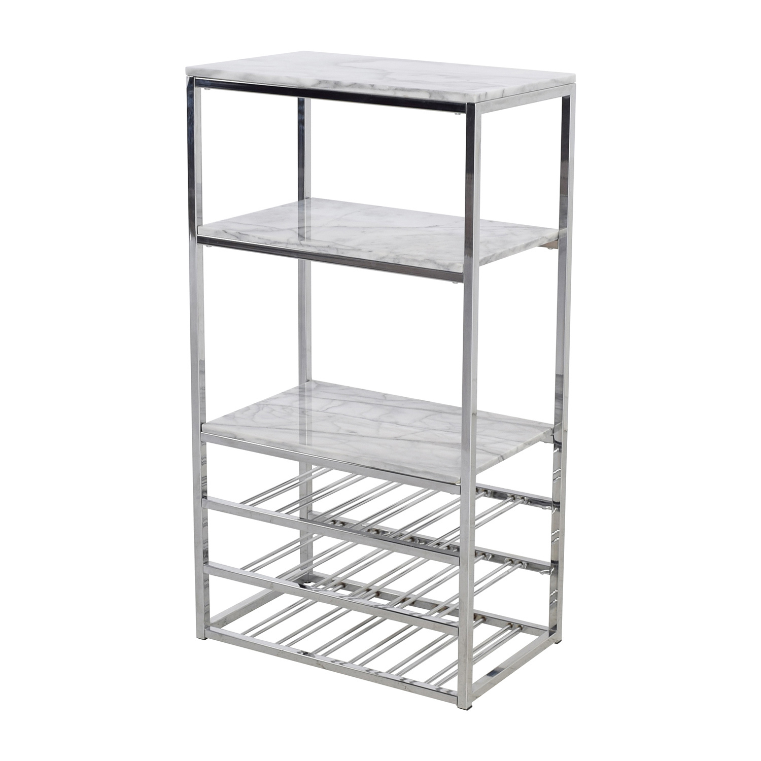73 Off Crate Barrel Crate Barrel Marble And Silver Chrome