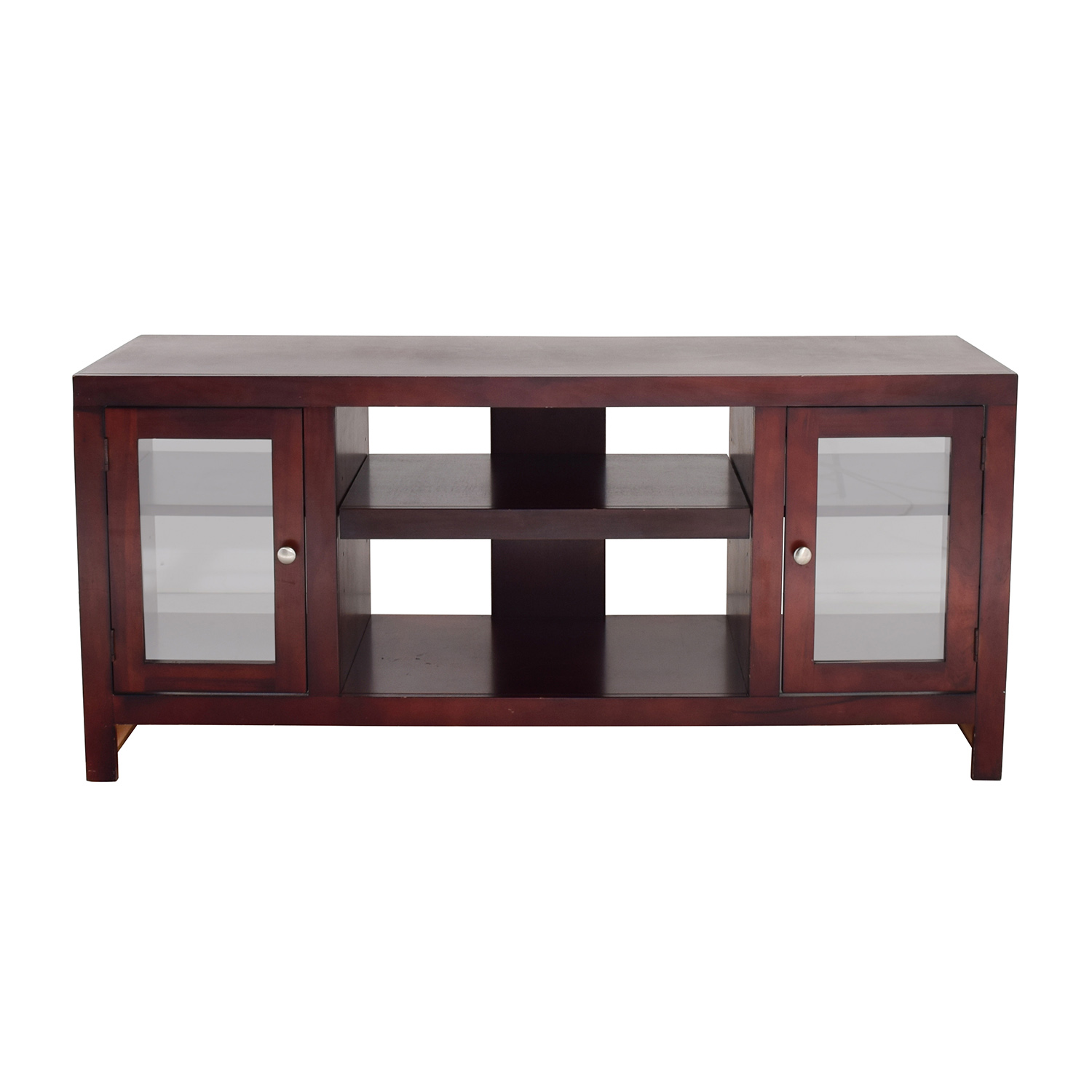 buy Crate & Barrel Wood and Glass Media Stand Crate and Barrel Media Units