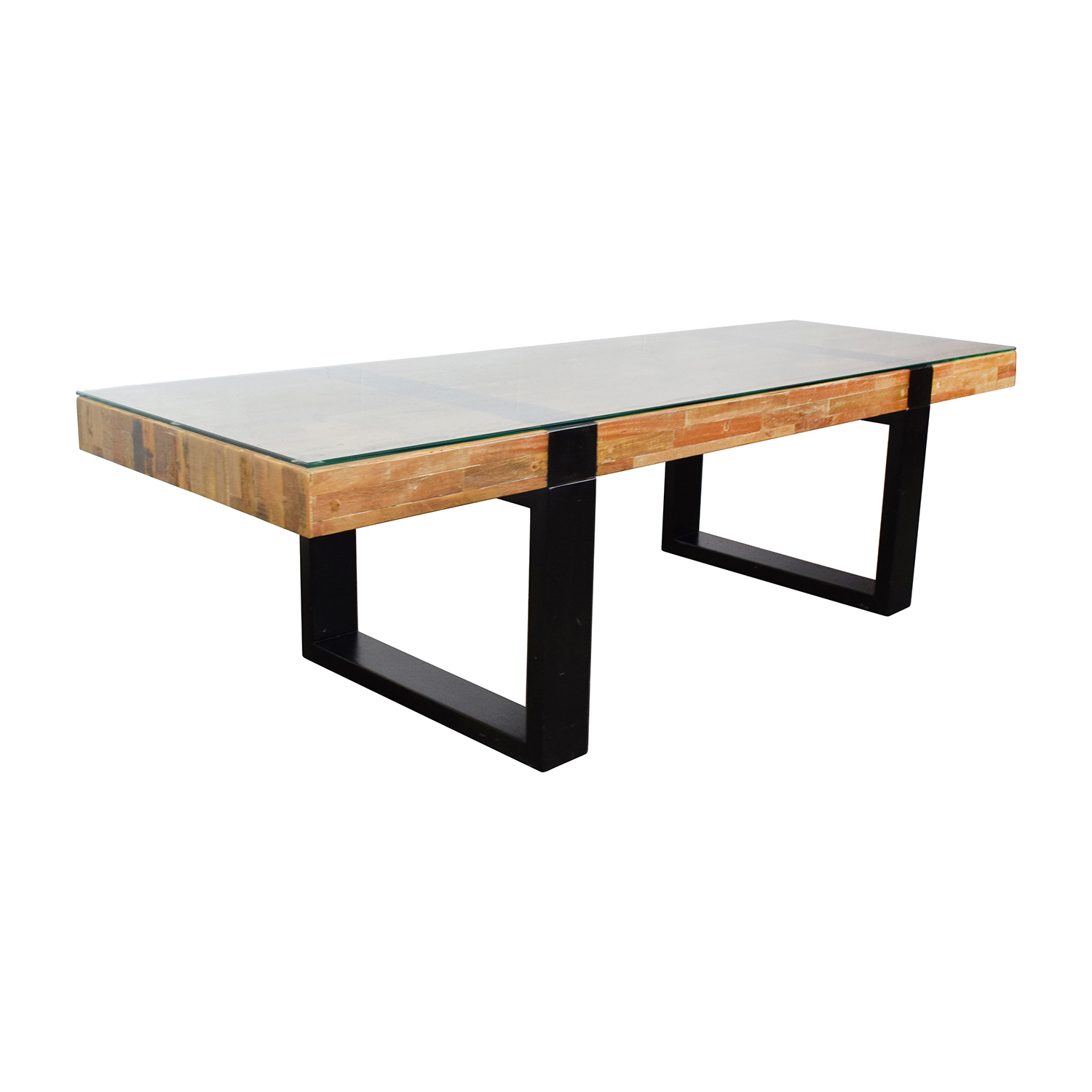 Crate and barrel crate barrel seguro rectangular wood table coffee tables