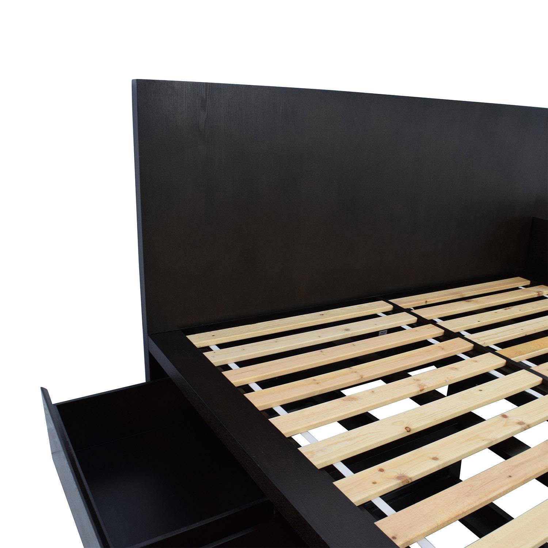 54 Off West Elm West Elm Storage Queen Platform Bed And Nightstand Beds