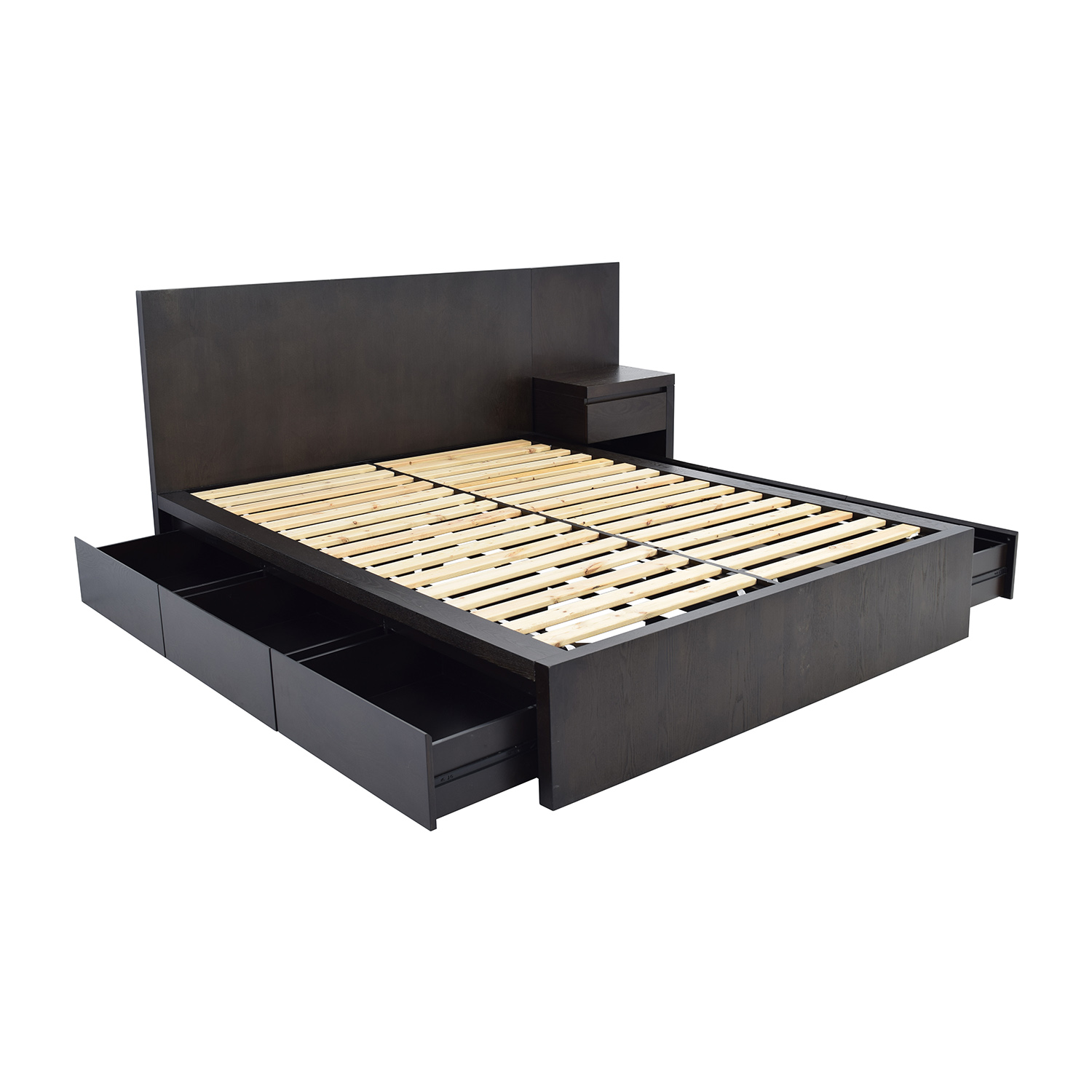 West Elm Storage Queen Platform Bed And Nightstand Frames