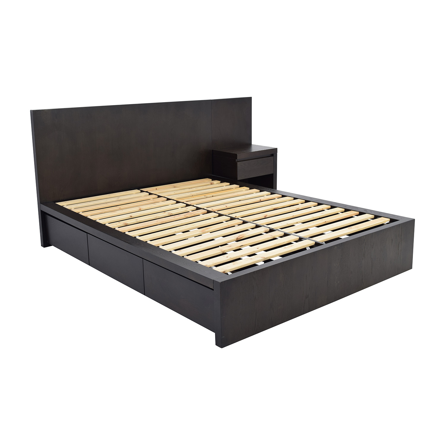 west elm storage queen platform bed and nightstand sale