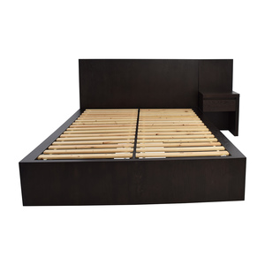 West Elm West Elm Storage Queen Platform Bed and Nightstand