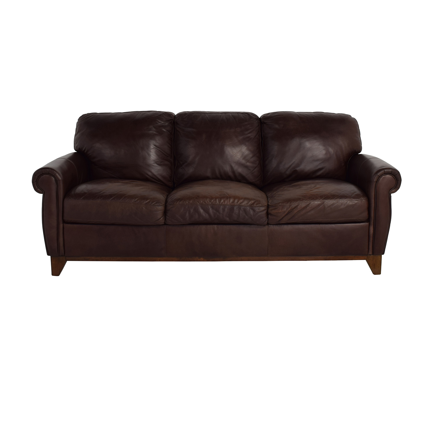 48 Off Raymour Flanigan Brown Leather Couch Rh Kaiyo Com