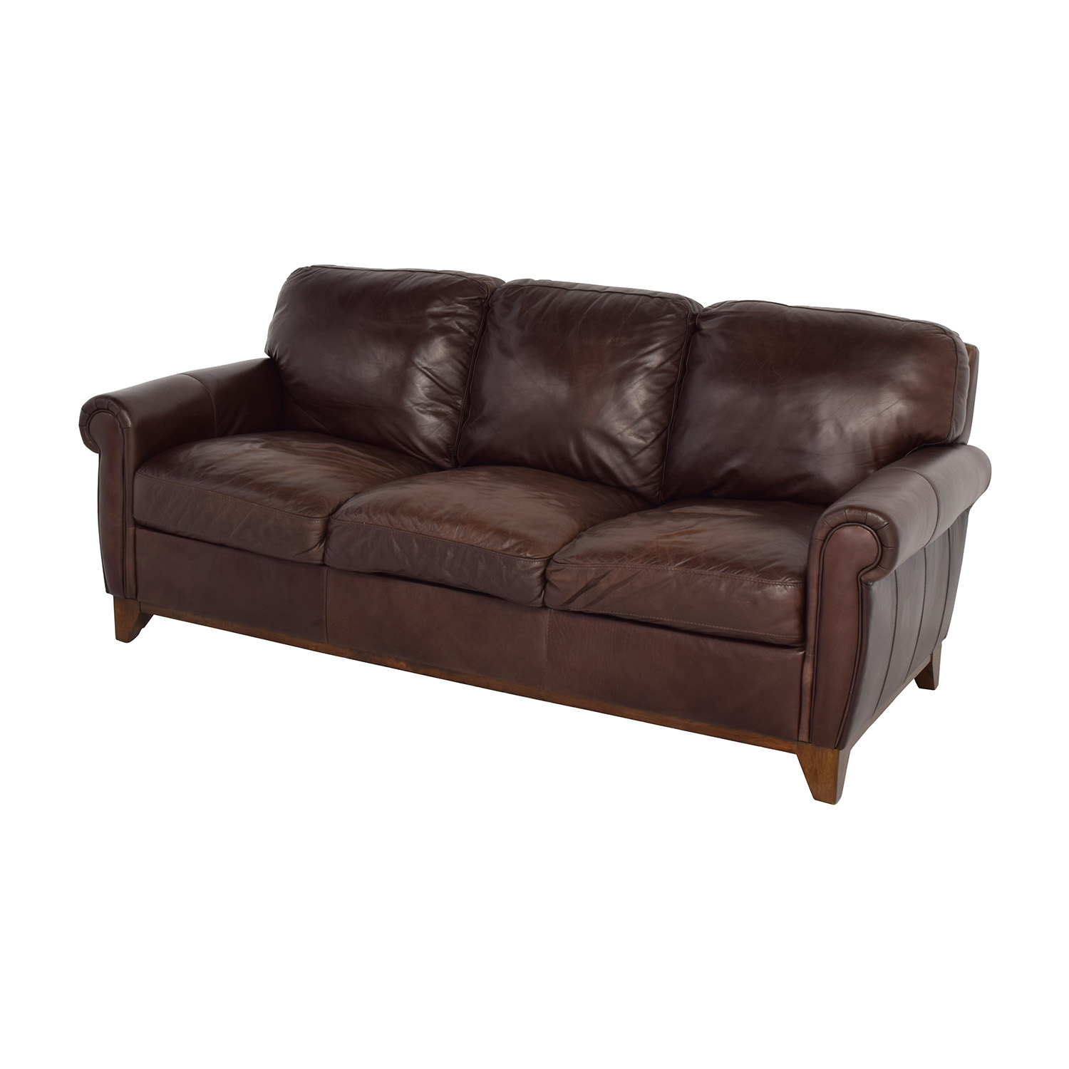 Swell 48 Off Raymour Flanigan Raymour Flanigan Brown Leather Couch Sofas Ibusinesslaw Wood Chair Design Ideas Ibusinesslaworg