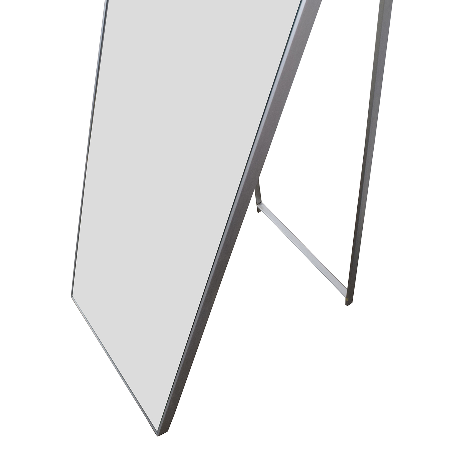 51% OFF - CB2 CB2 Floor Mirror with Silver Frame / Decor