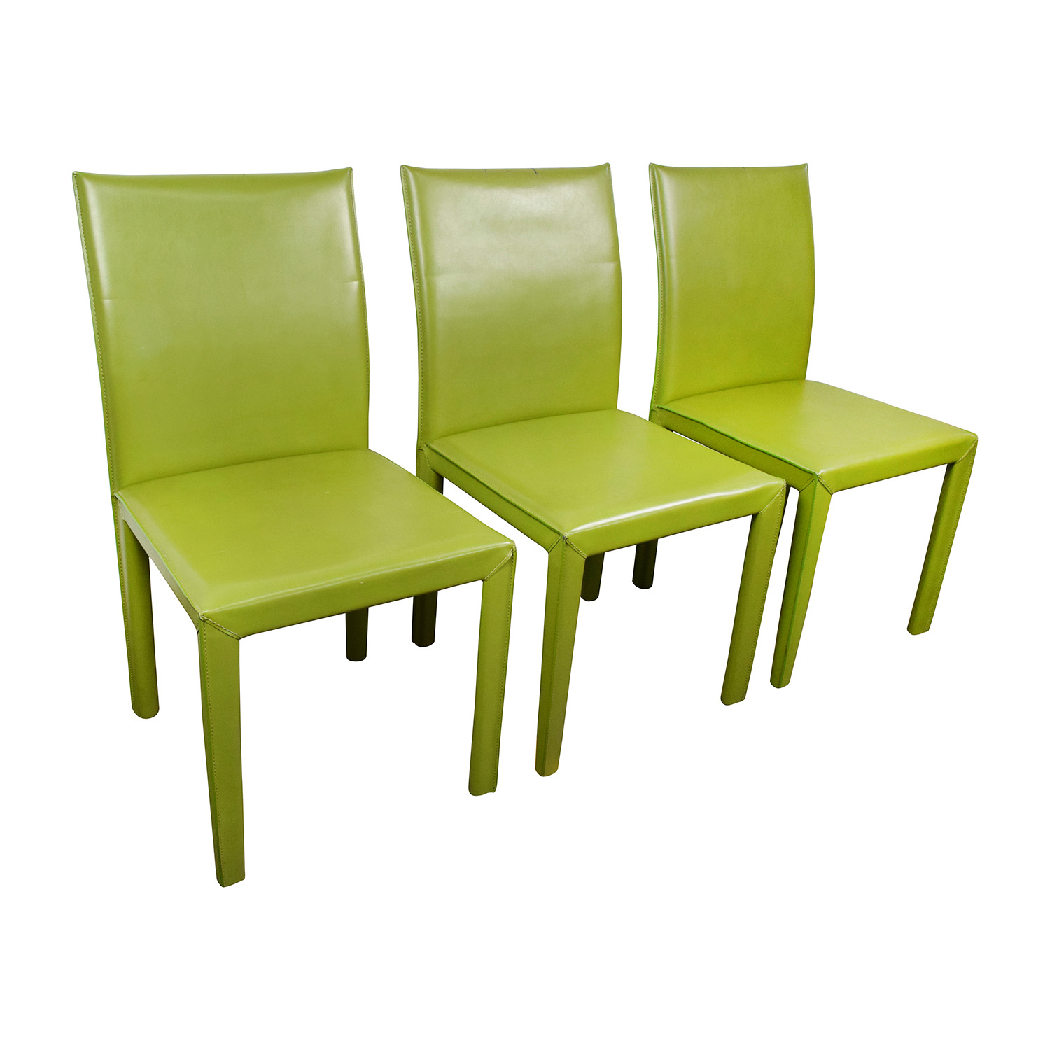 90 Off Wade Logan Wade Logan Meade Lime Green Leather Chairs Chairs