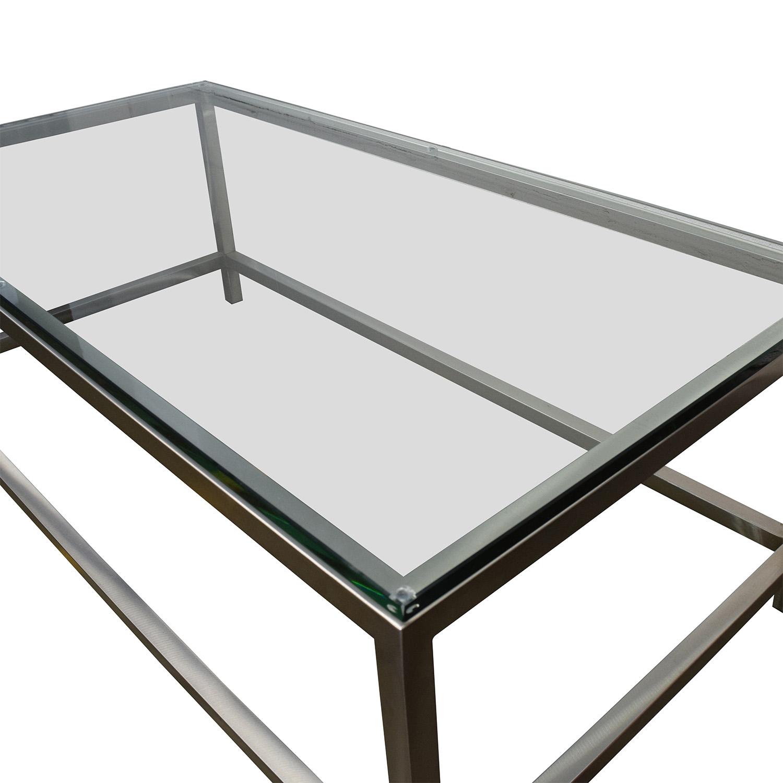 buy Crate & Barrel Era Rectangular Coffee Table Crate and Barrel Coffee Tables