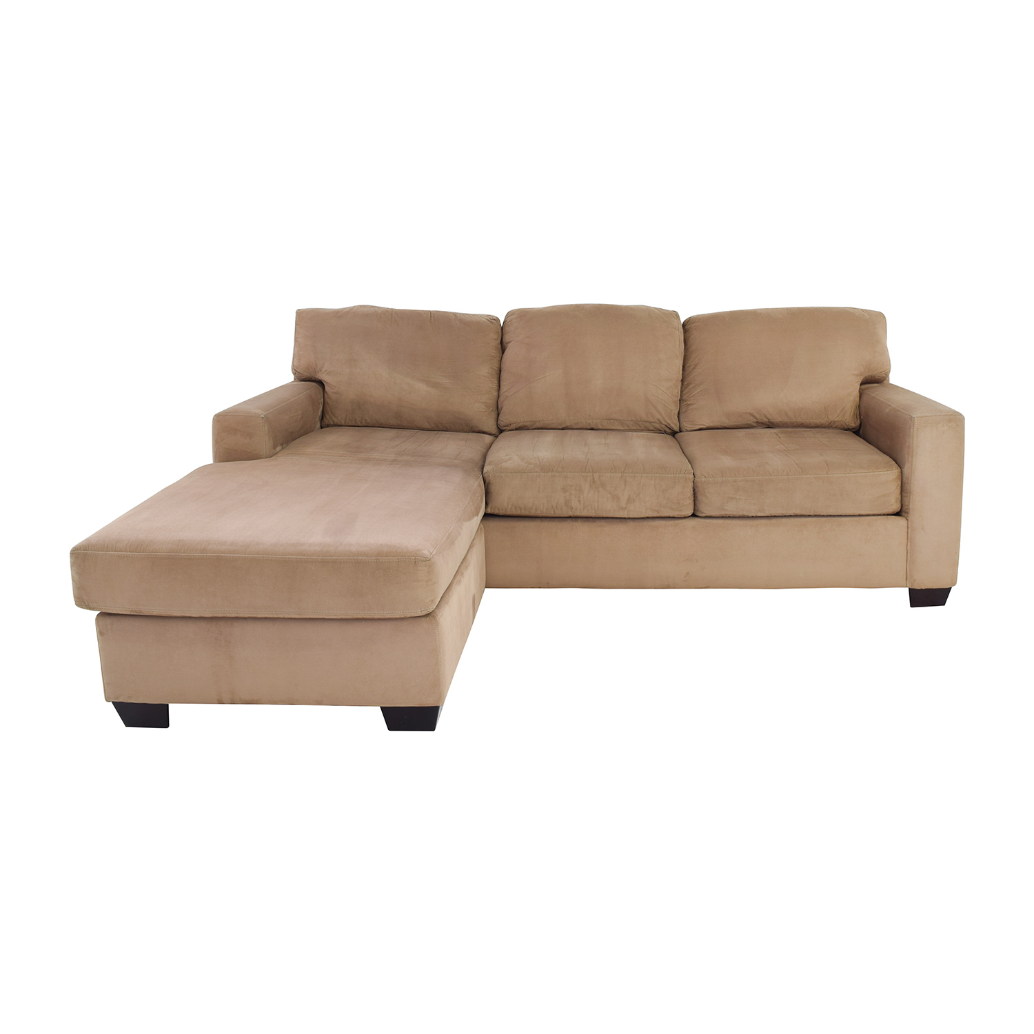 75% OFF Max Home Max Home Tan Sectional Chaise Sofa Sofas