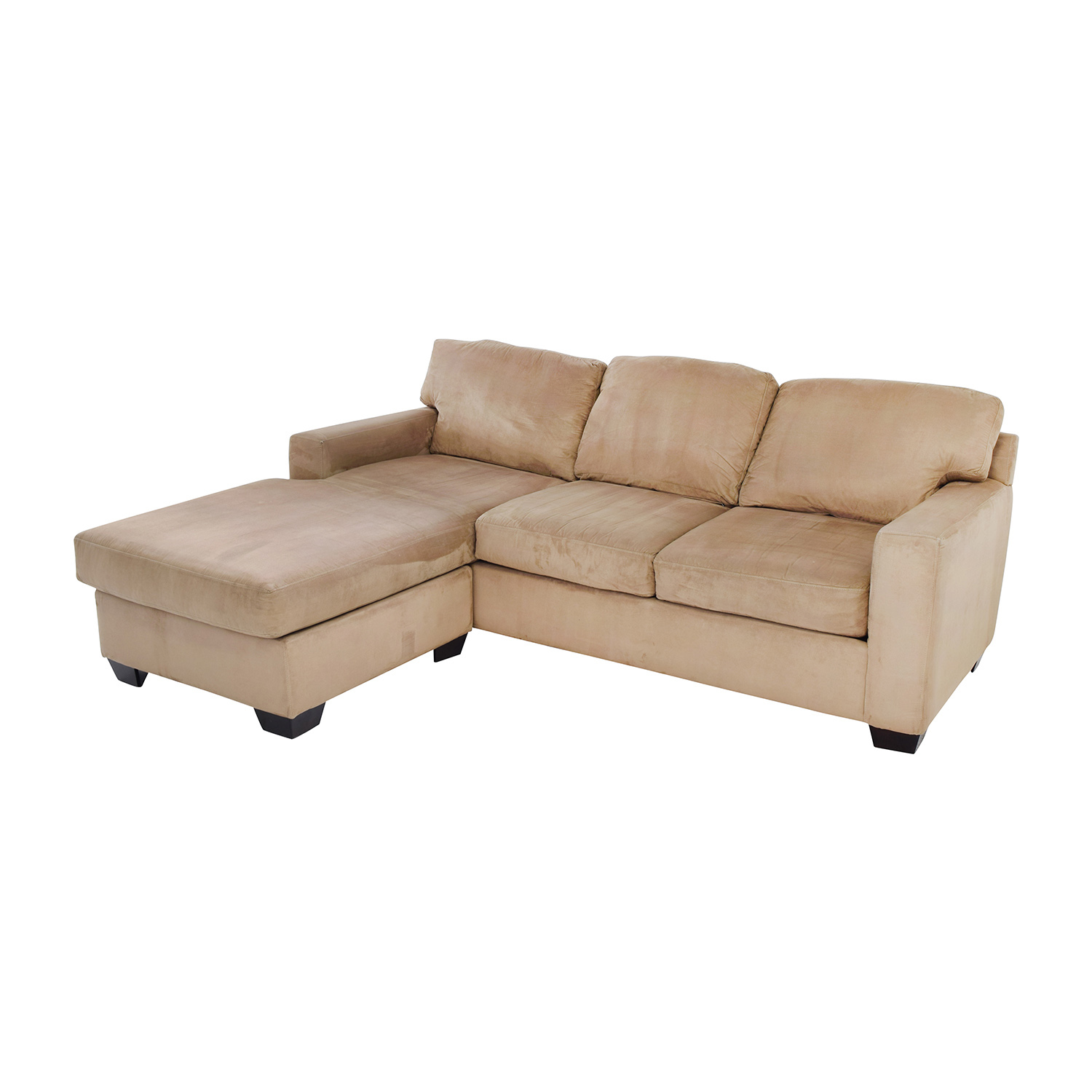 75 Off Max Home Tan Sectional Chaise Sofa Sofas