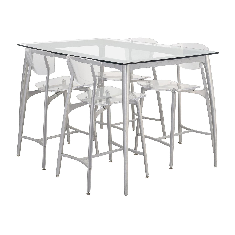 90 off custom laguna beach artist counter glass dining for Beach dining table