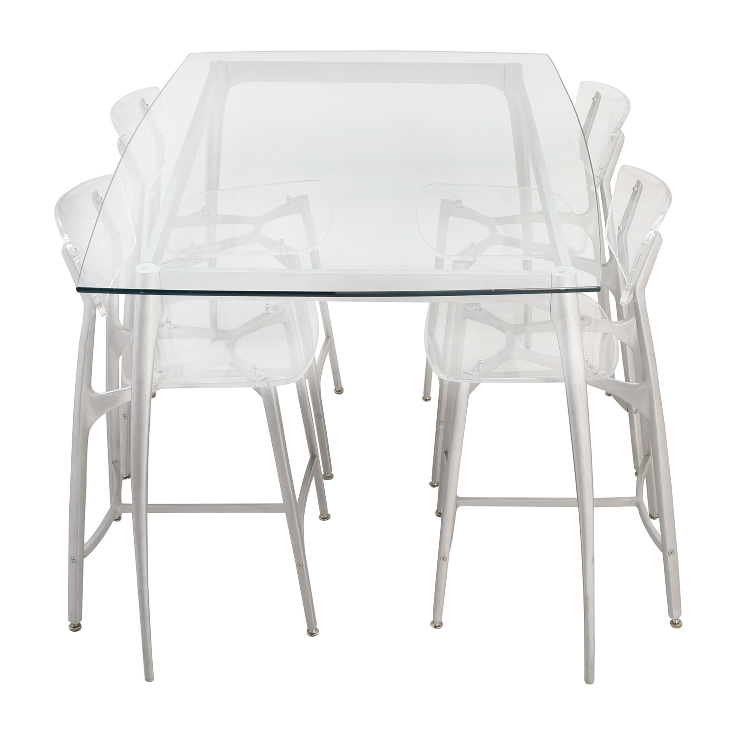 shop Custom Laguna Beach Artist Counter Glass Dining Set online