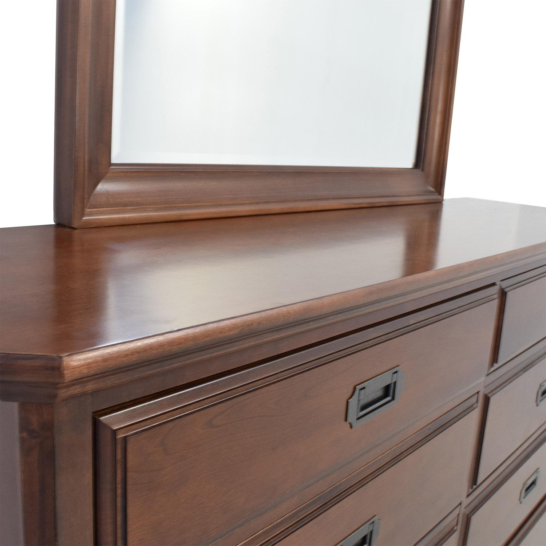 shop Vaughan Bassett Hardwood Dresser with Mirror Storage