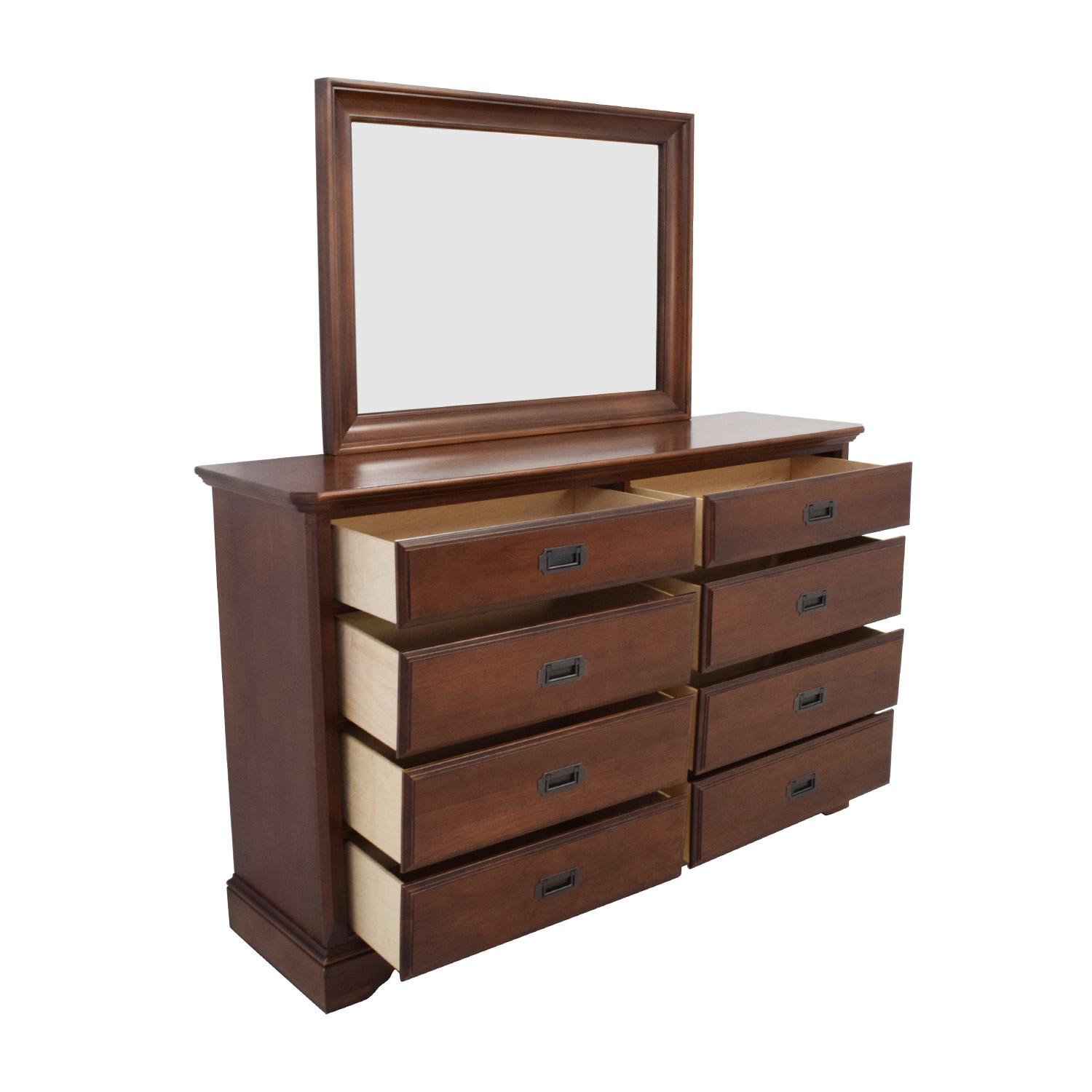 Bassett Coupon: Vaughan Bassett Hardwood Dresser With Mirror