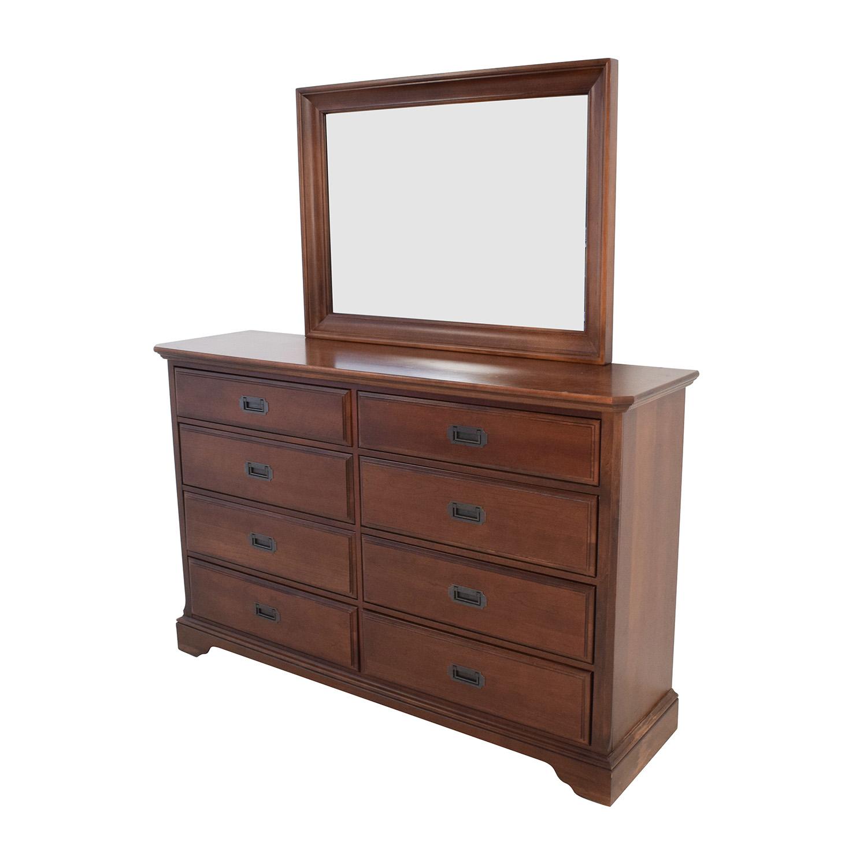 buy Vaughan Bassett Hardwood Dresser with Mirror Dressers