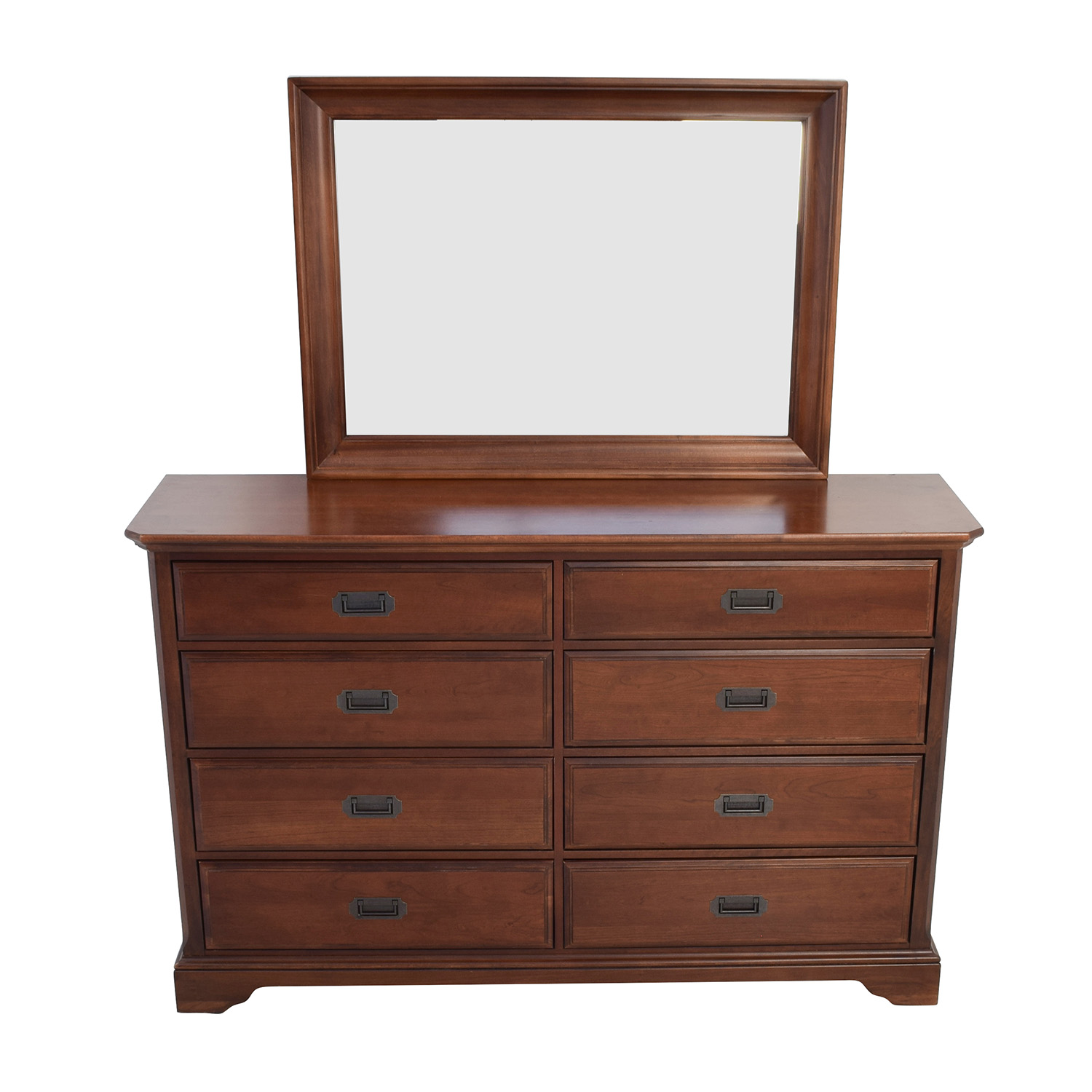 Vaughan Bassett Hardwood Dresser with Mirror used