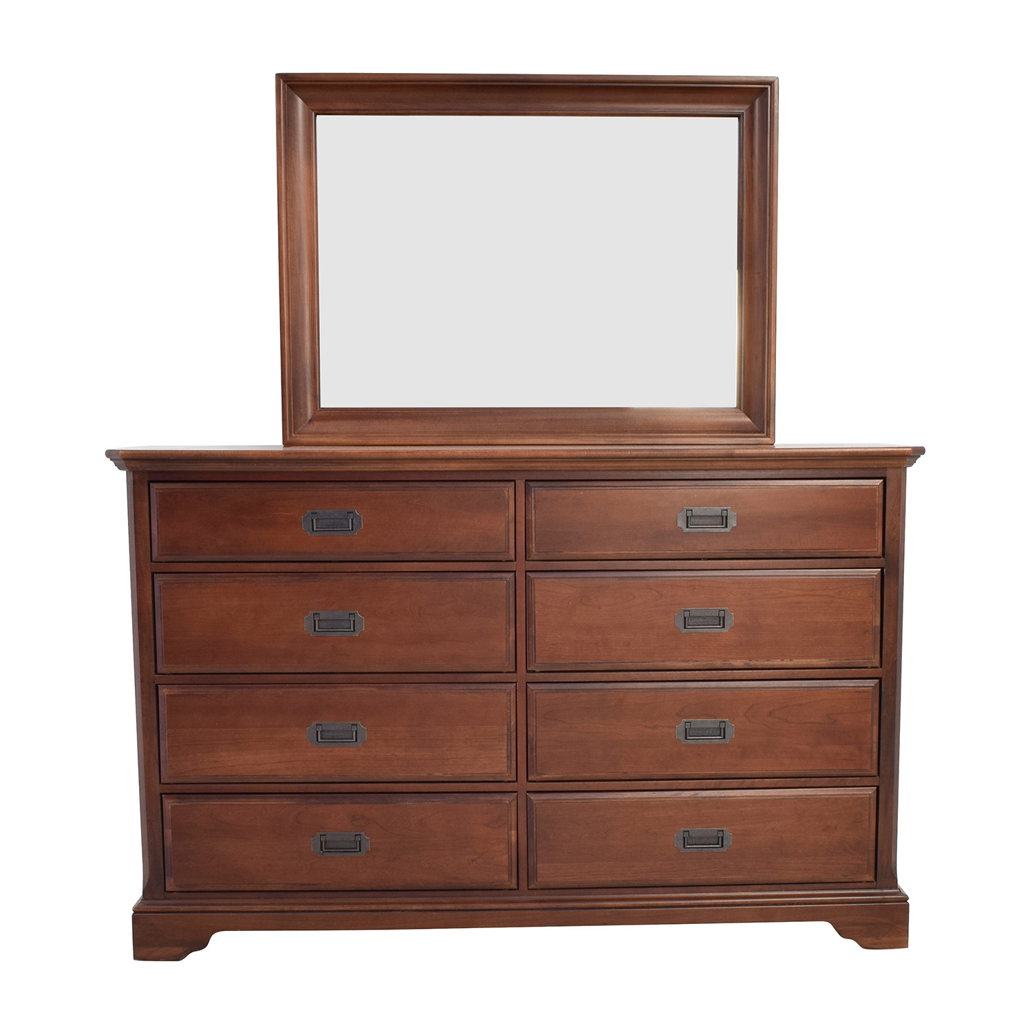 shop Vaughan Bassett Hardwood Dresser with Mirror  Sofas
