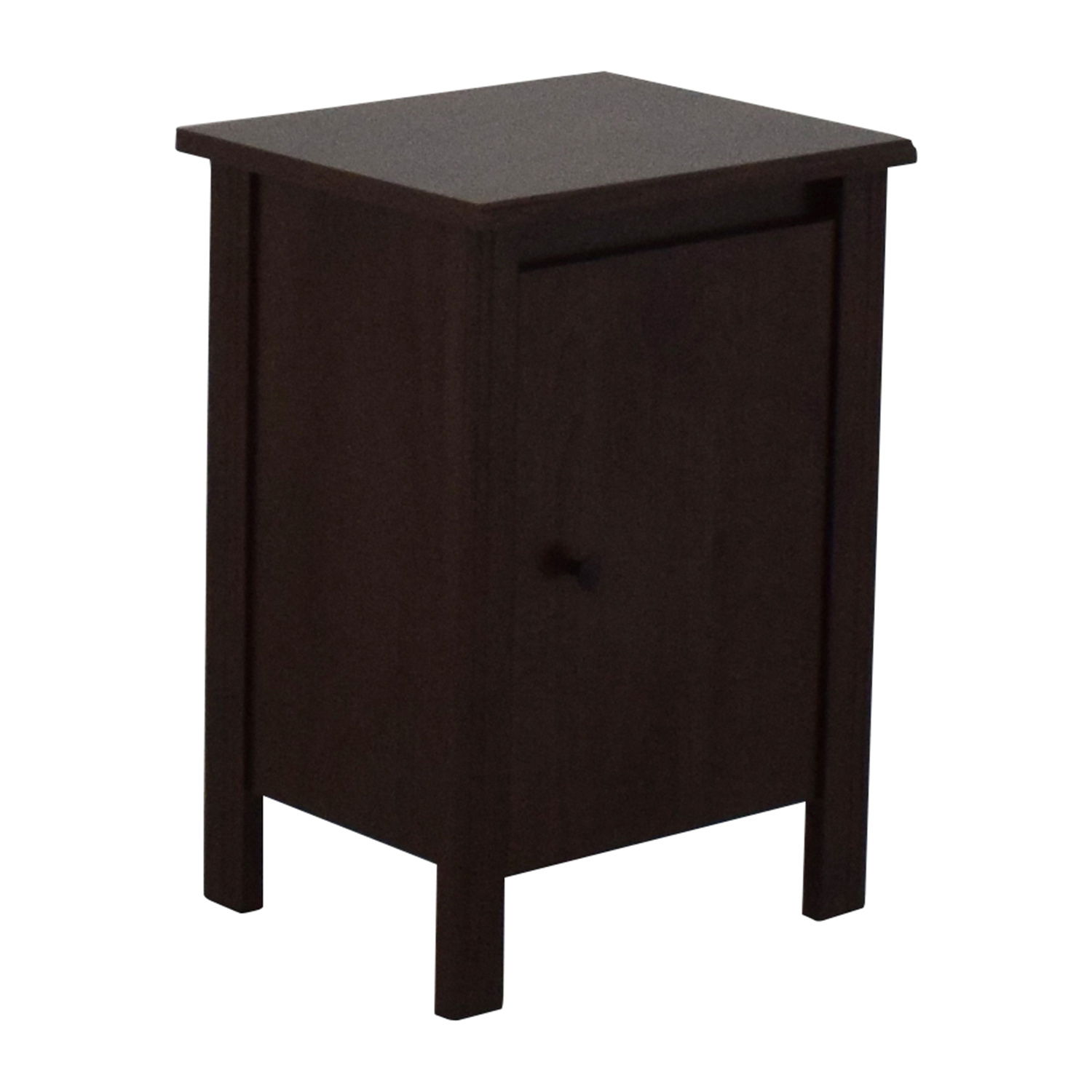 Unkown Dark Brown Nightstand with Shelves Tables