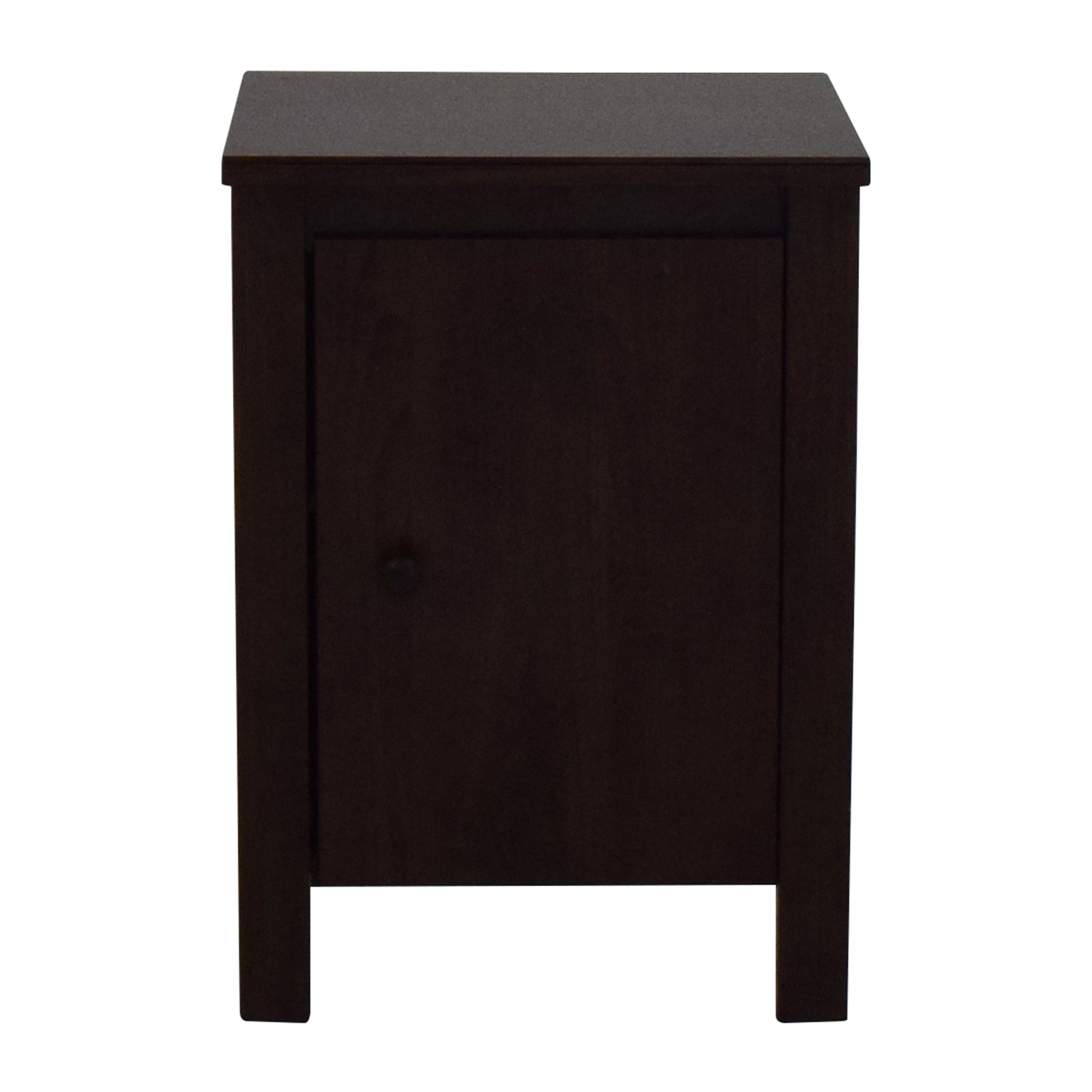 shop Unkown Dark Brown Nightstand with Shelves online
