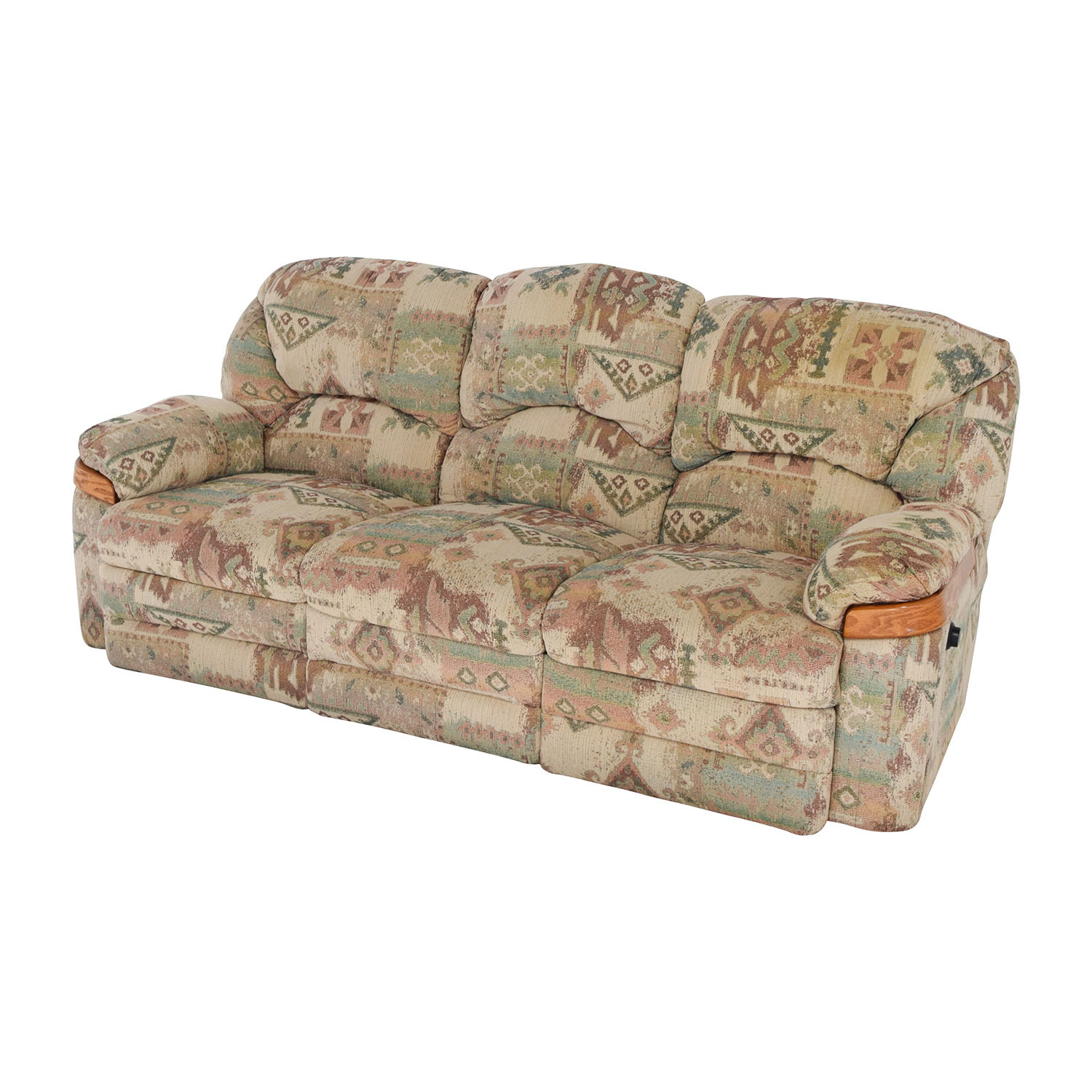 Patterned Fabric Recliner Sofa coupon
