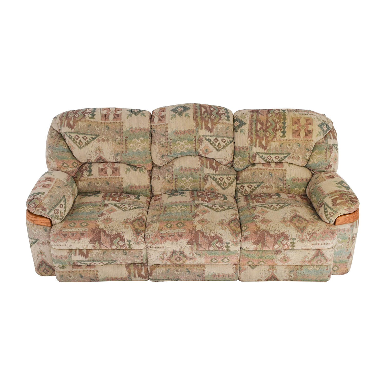 Patterned Fabric Recliner Sofa on sale