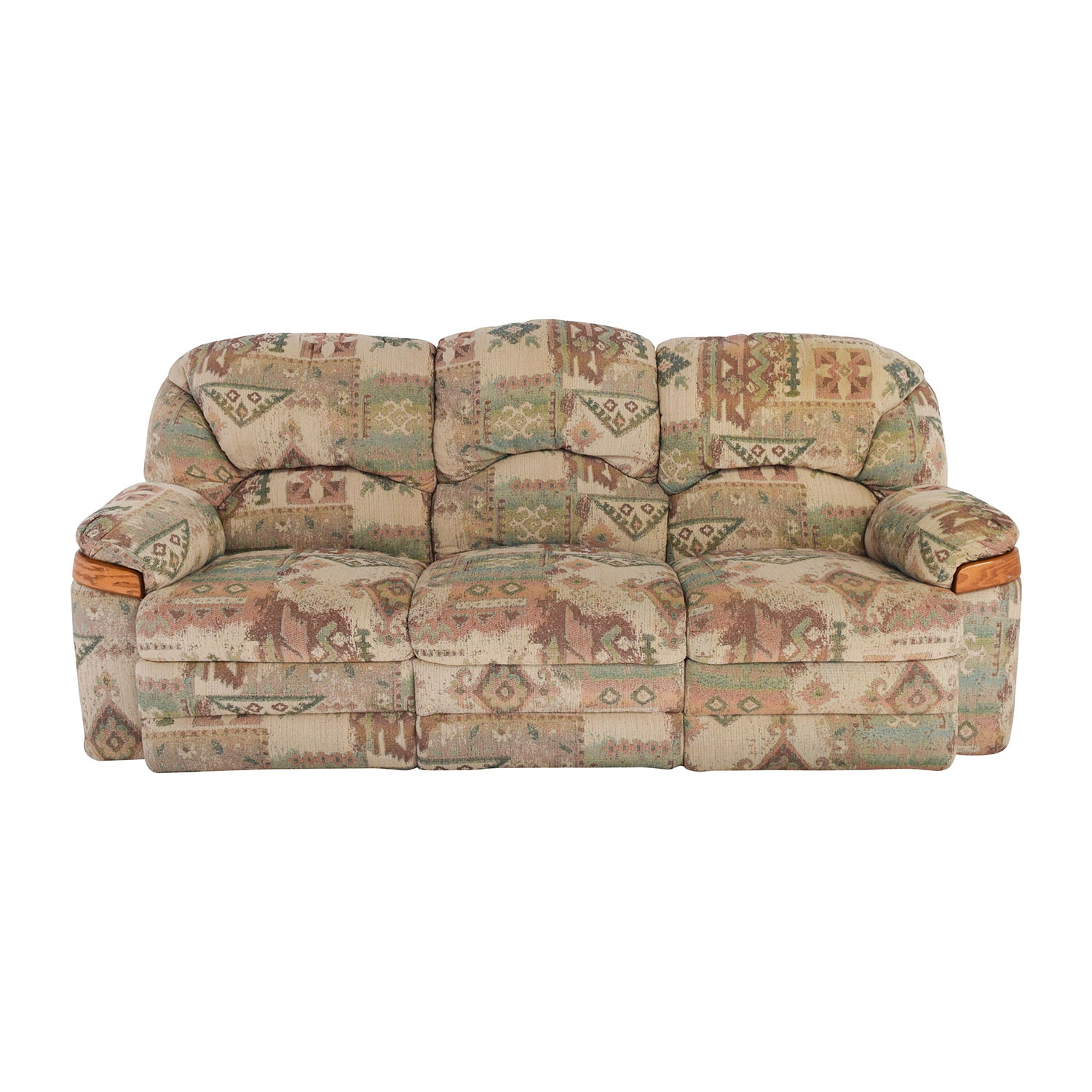 Patterned Fabric Recliner Sofa Classic Sofas