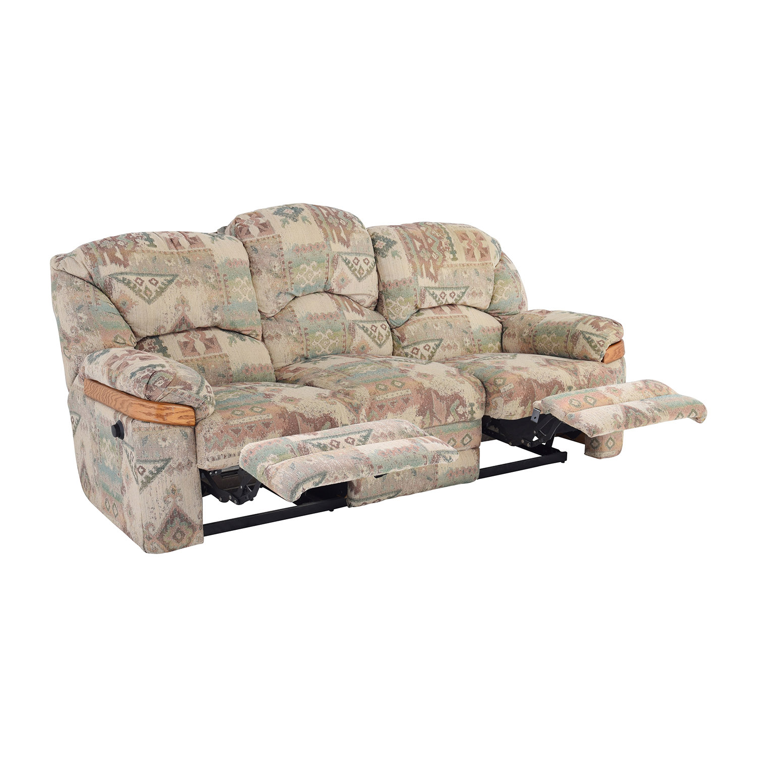 Patterned Fabric Recliner Sofa / Sofas